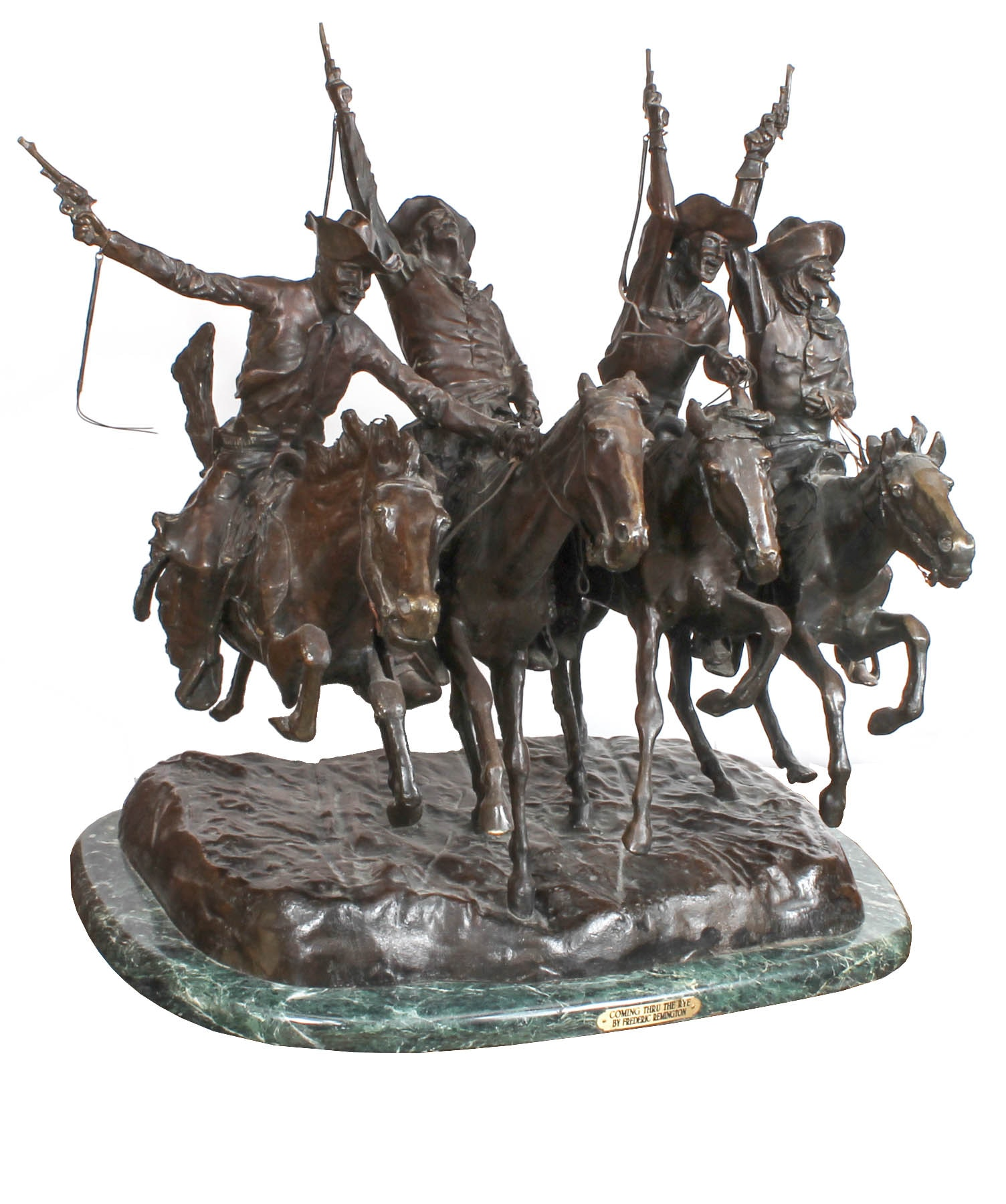 """Coming Thru The Rye"" Bronze Sculpture After Frederic Remington"