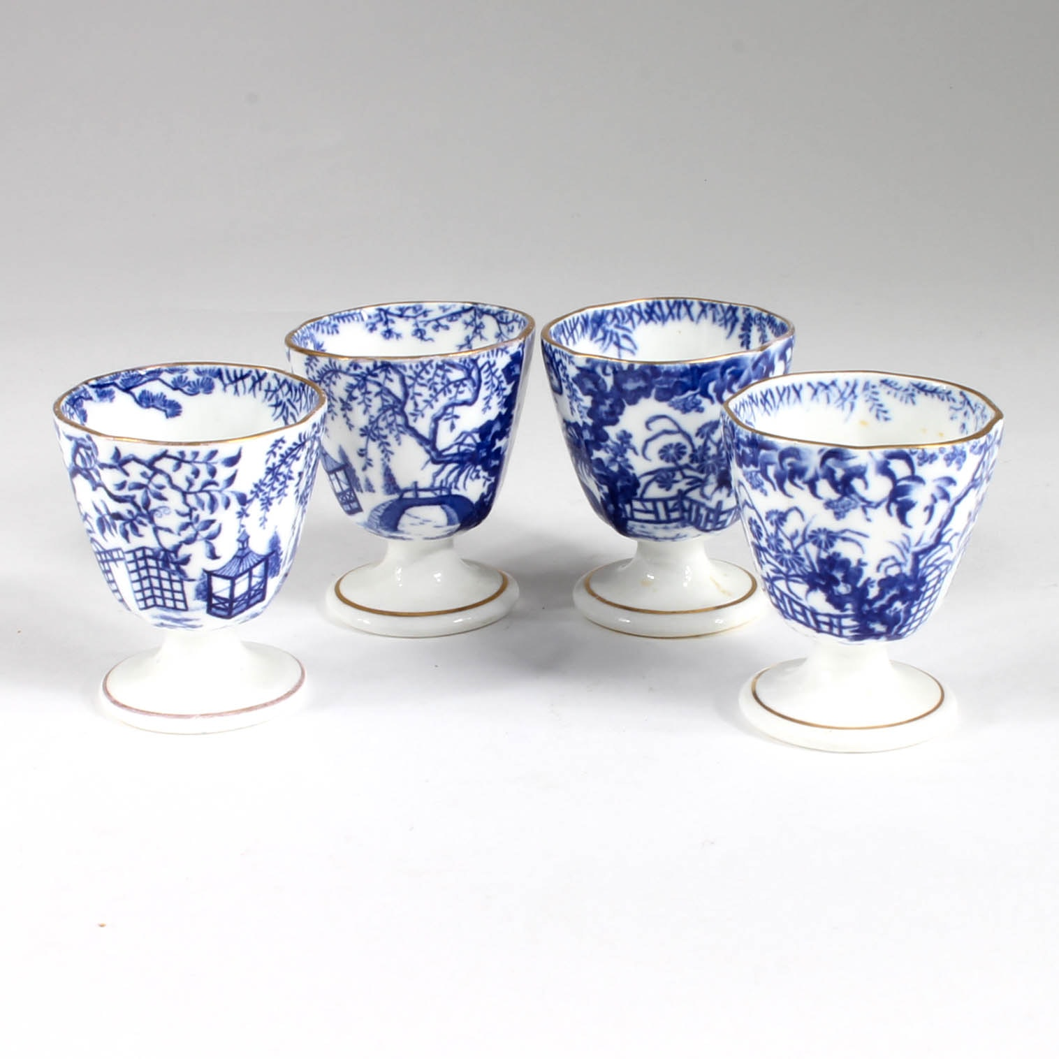 "Antique Royal Crown Derby ""Blue Mikado""  Porcelain Egg Cups"