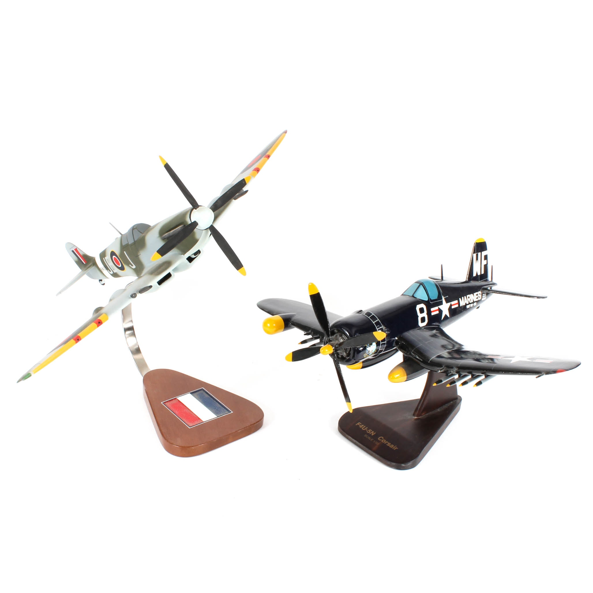 Group of Propeller Fighter Plane Models