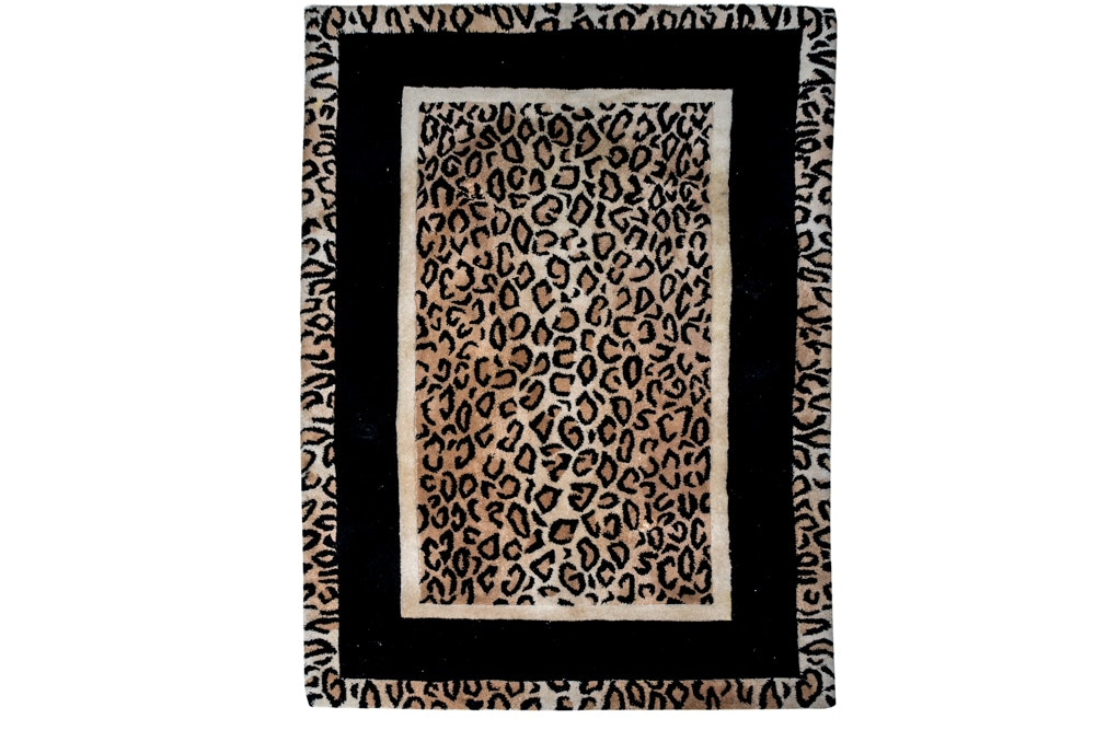 Leopard Print Accent Rug