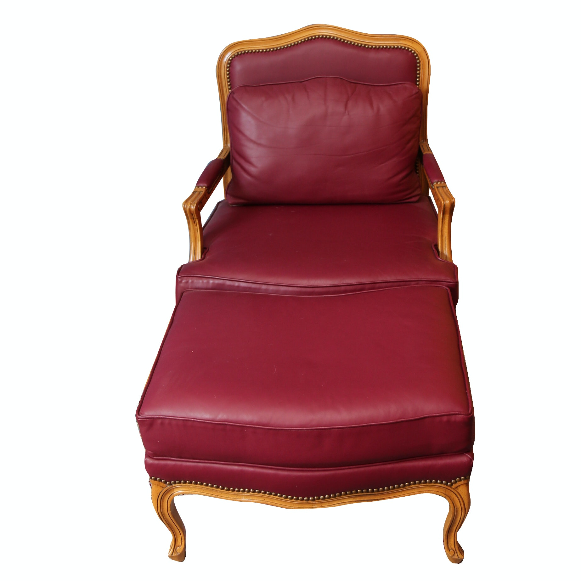 Louis XV Style Fauteuil With Ottoman by Ashley Manor Inc.