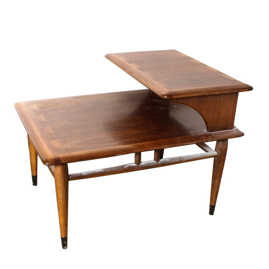Vintage Mid Century Modern Two Tier End Table By Lane