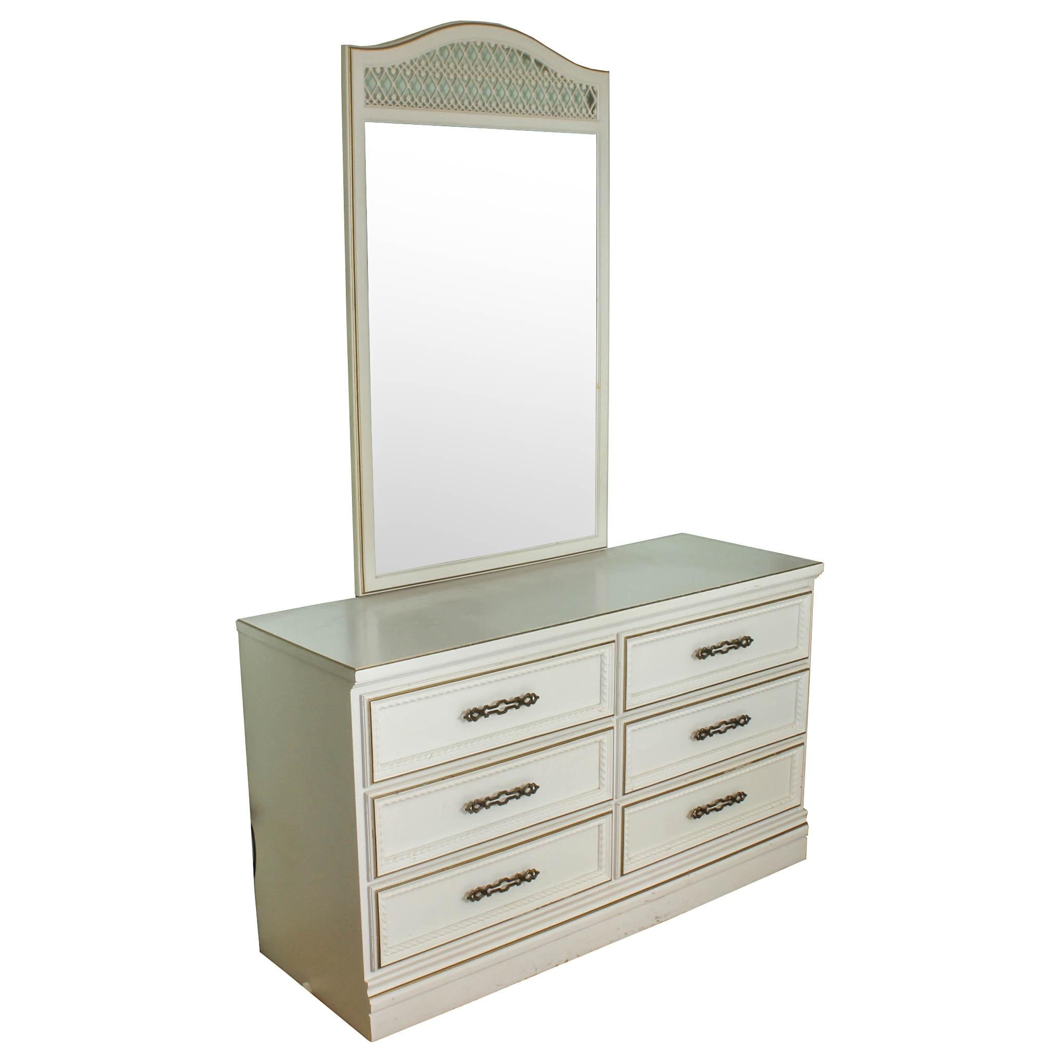 Vintage Mid-Century Dresser and Mirror