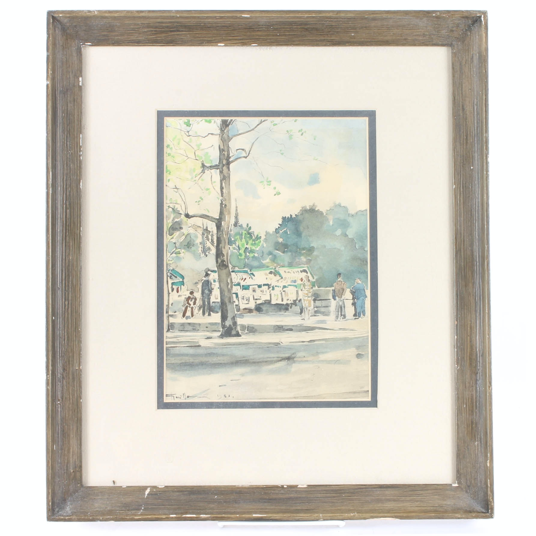 Framed Original Watercolor Painting