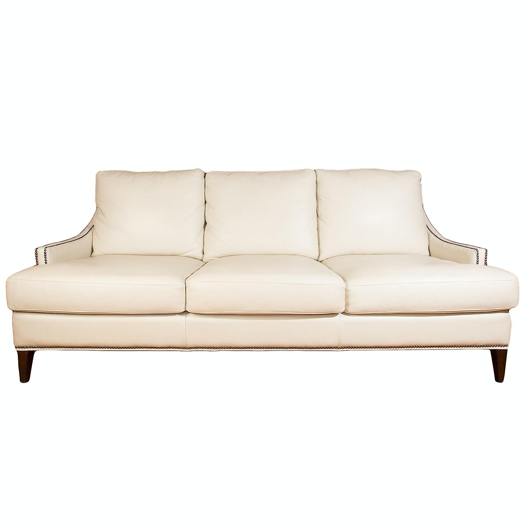 """Gardner"" Leather Sofa by Henredon"