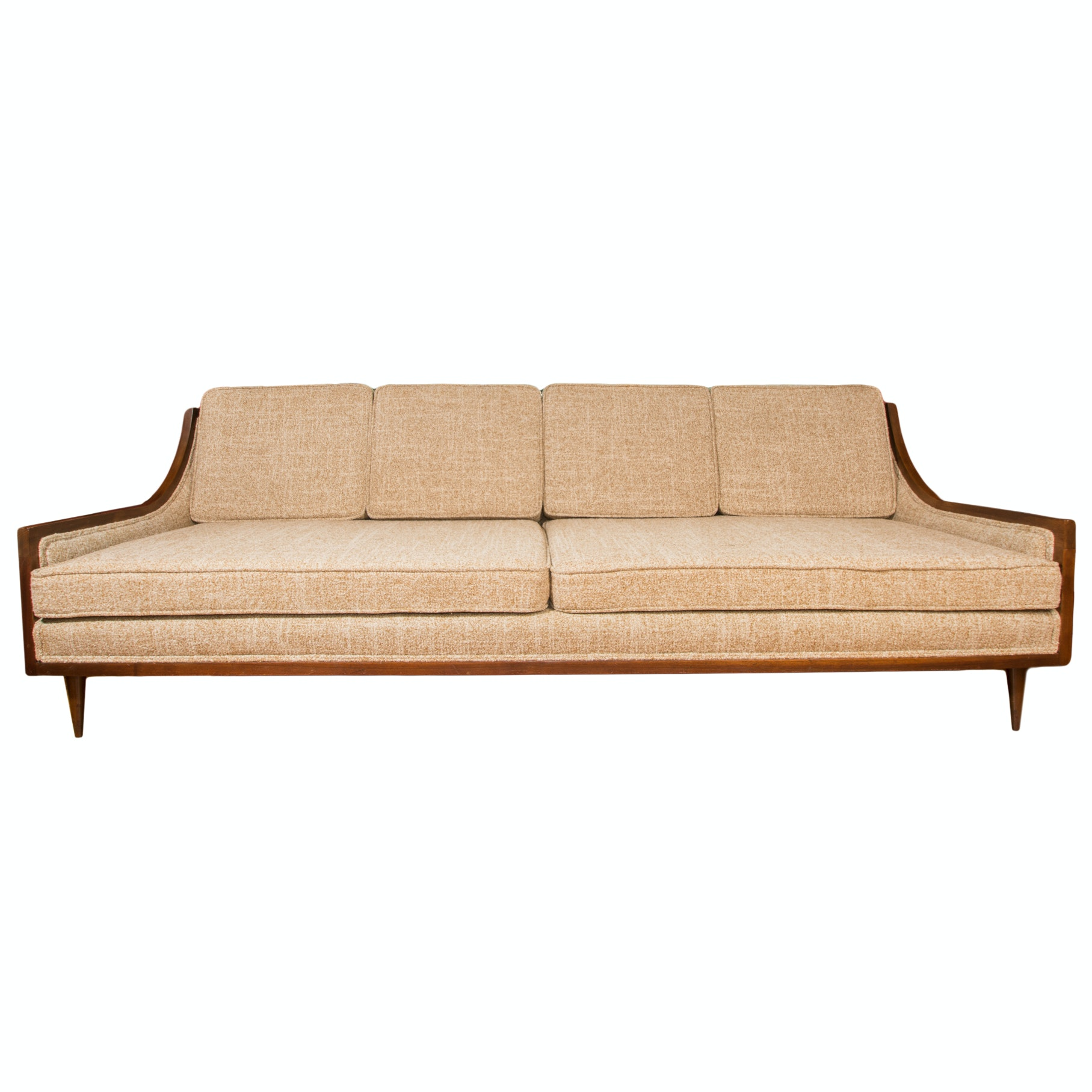 Mid-Century Danish Modern Sofa in the Style of Adrian Pearsall