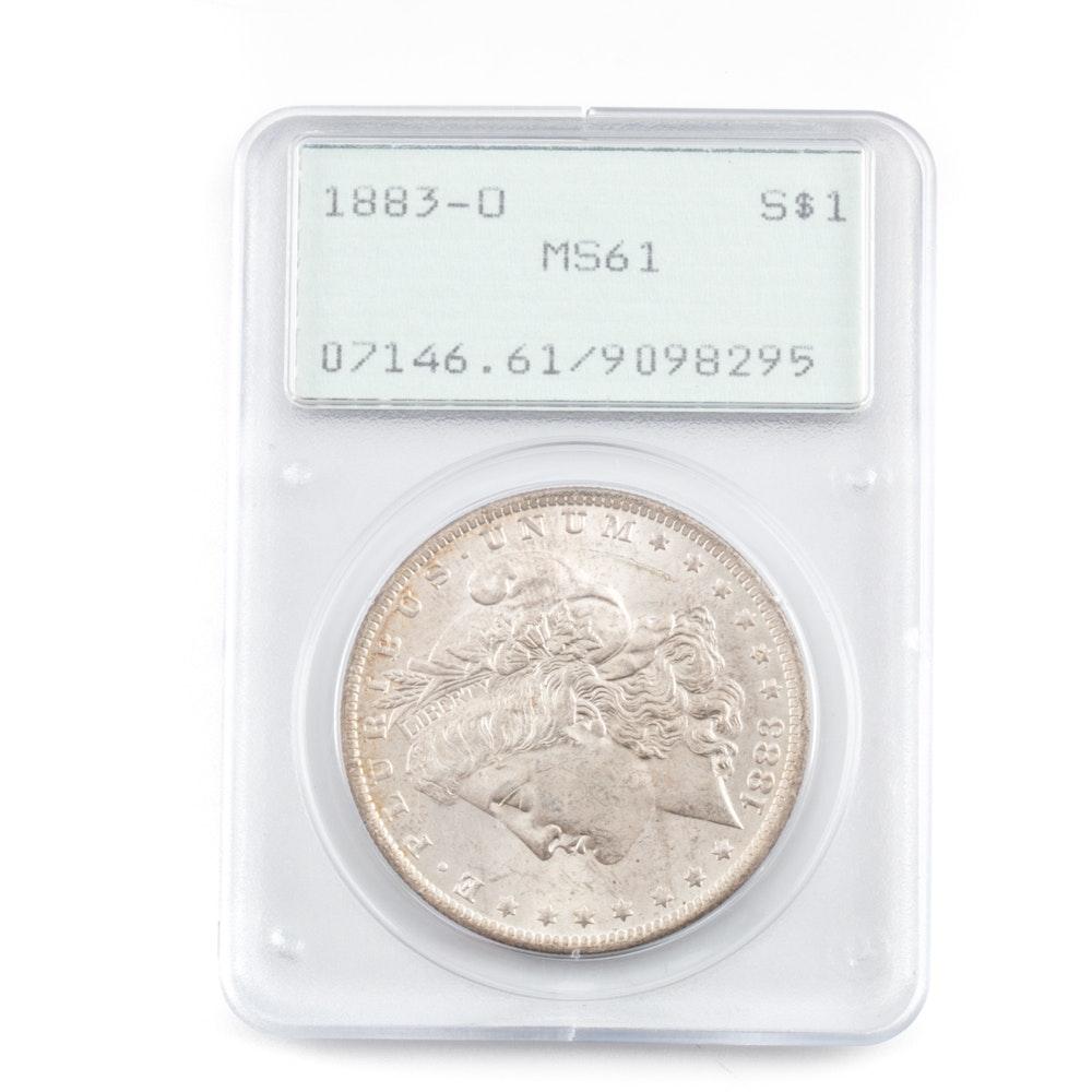 Graded MS-61 (By PCGS) 1883 O Silver Morgan Dollar