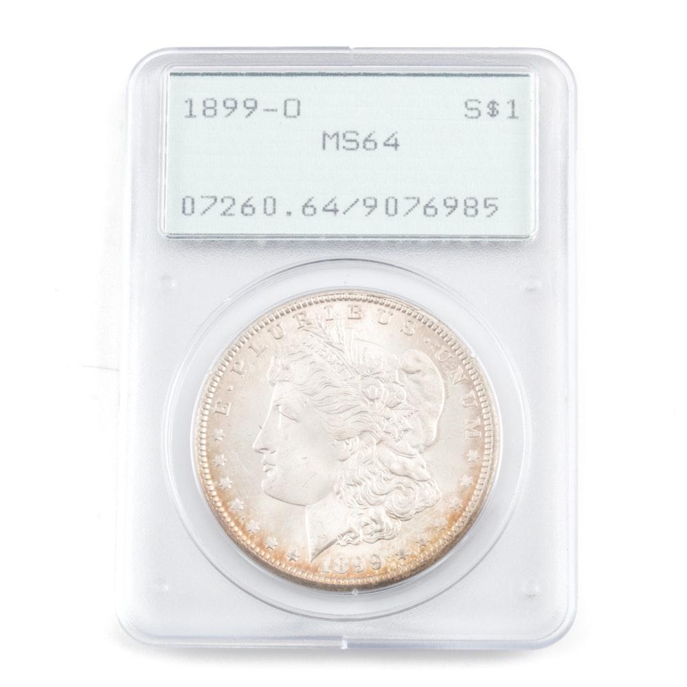 Graded MS-64 (By PCGS) 1899 O Silver Morgan Dollar