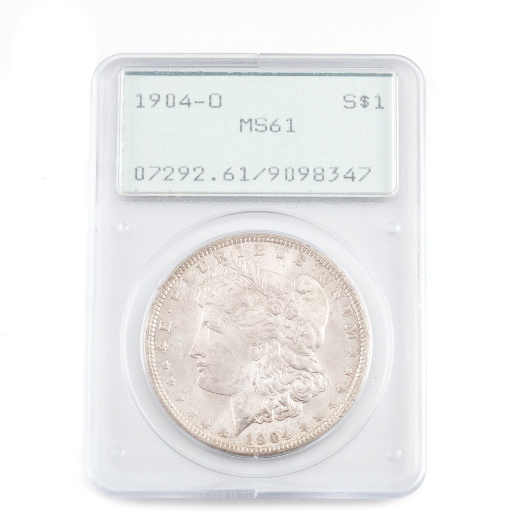 Graded MS-61 (By PCGS) 1904 O Silver Morgan Dollar