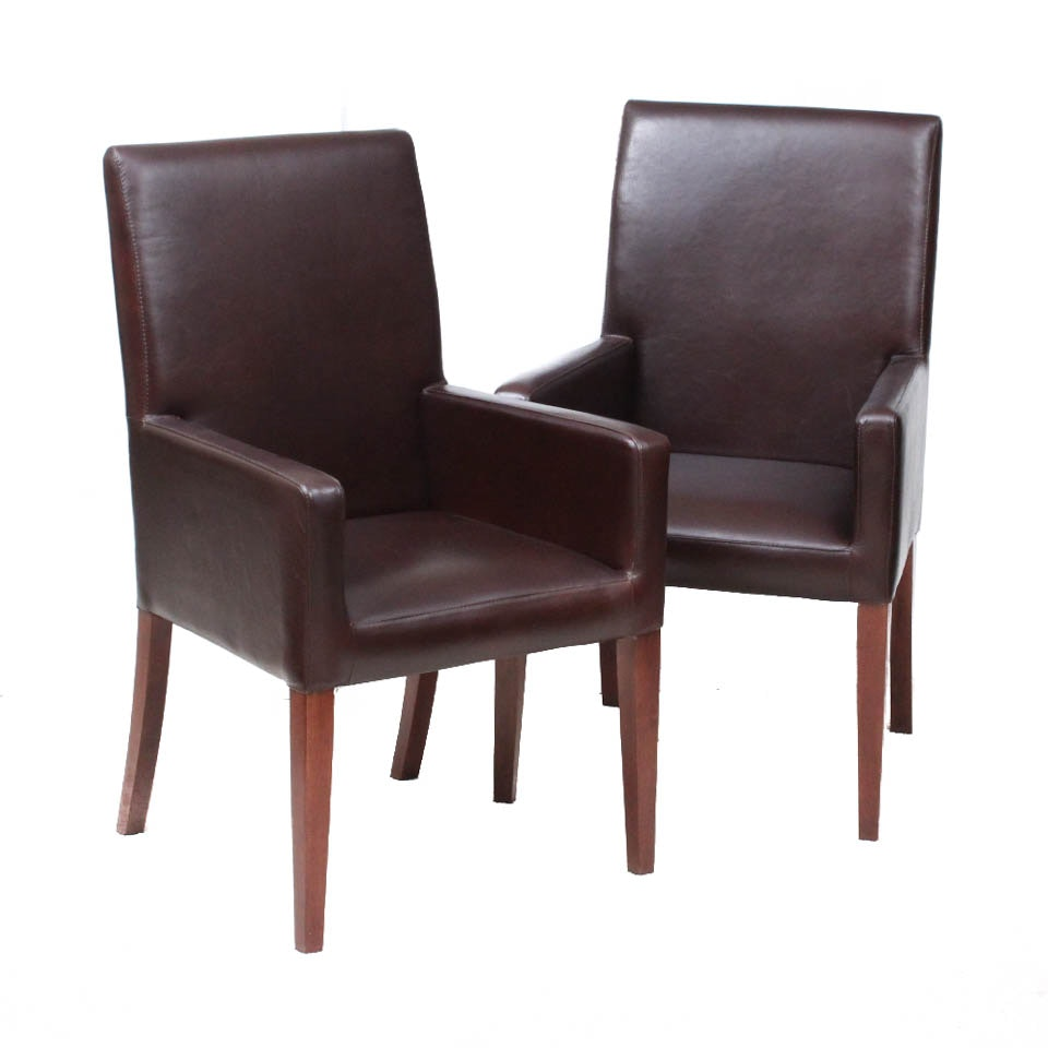 Pottery Barn Grayson Leather Armchairs