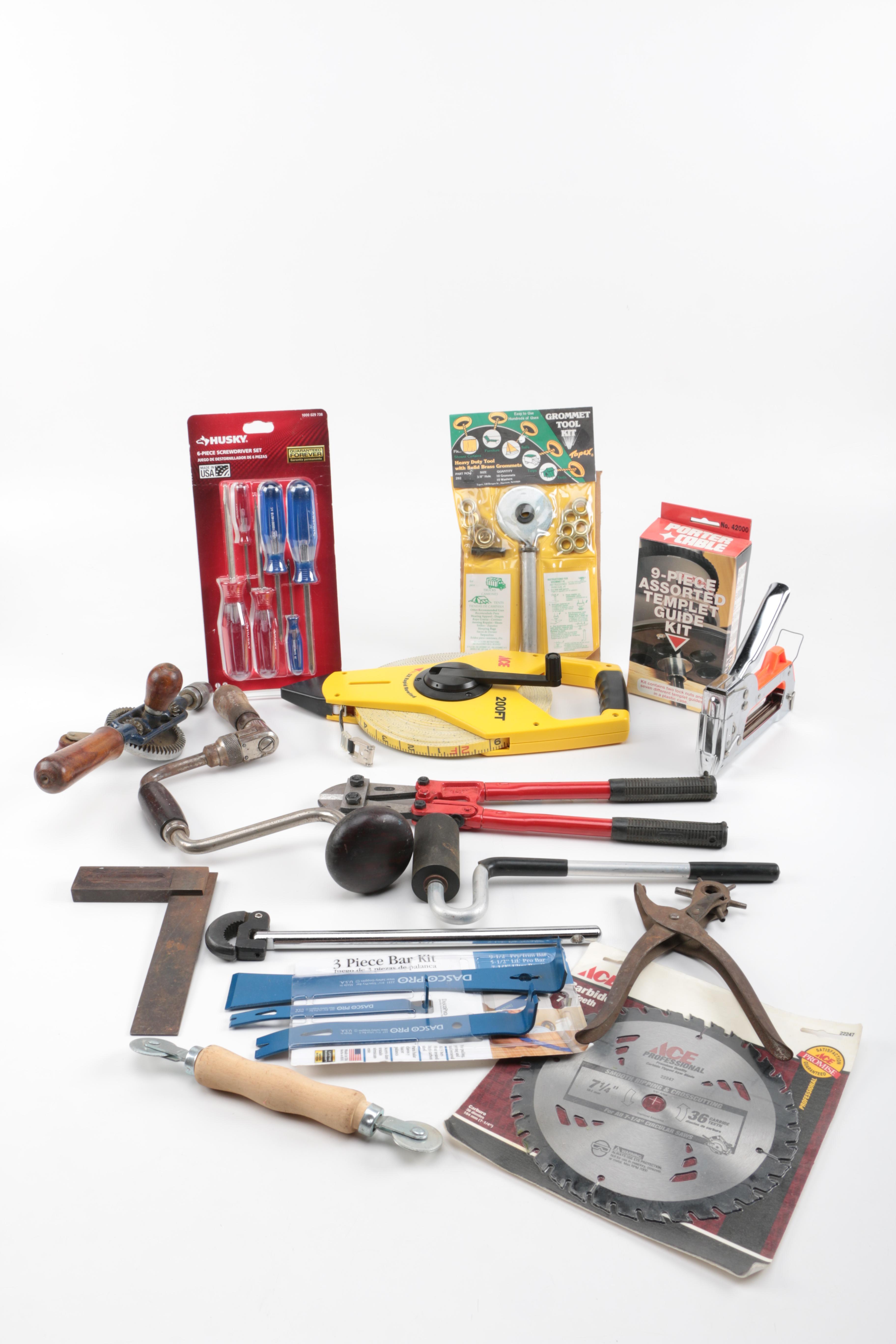 Assortment of Carpenter's Tools