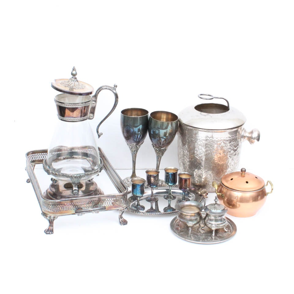 Metal Tableware Including Silver Plate and Stainless