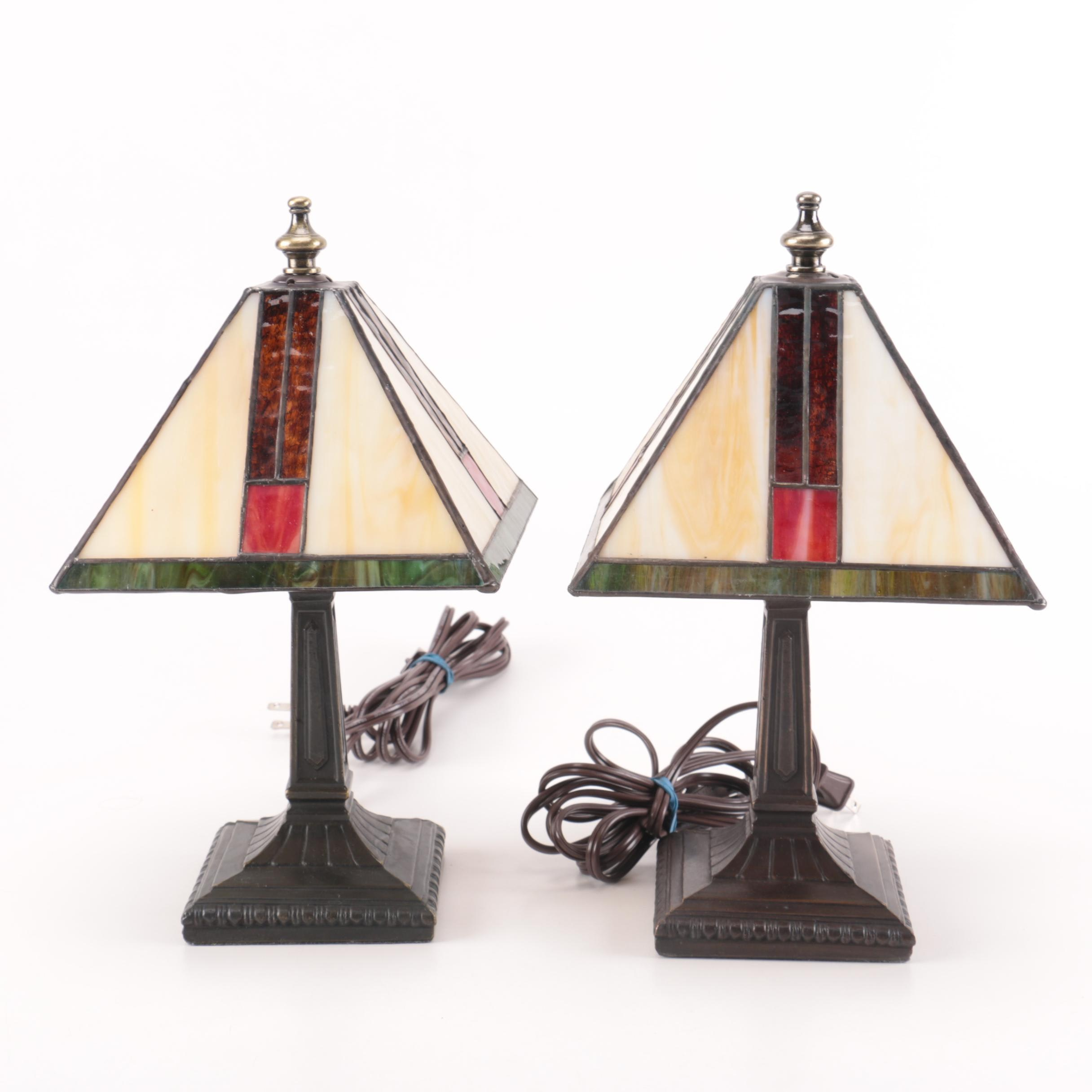 Contemporary Stained Glass Table Lamps