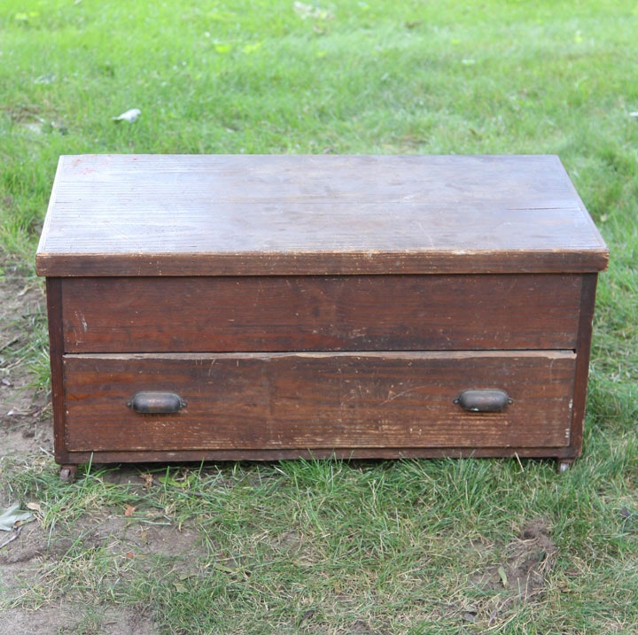 Early 20th Century Pine Tool Chest