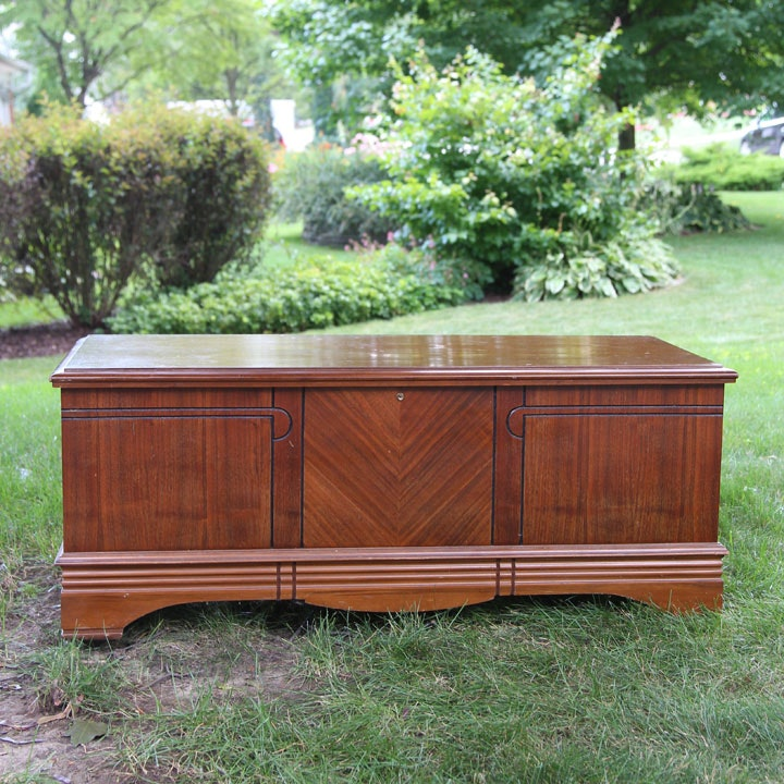 Art Deco Style Cedar Chest by Montgomery Ward