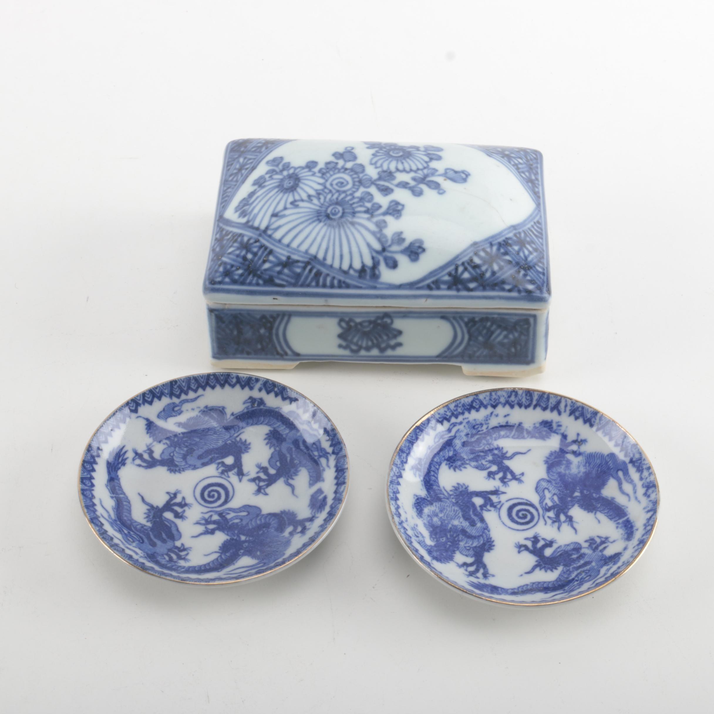 Trinket Box and Decorative Plates