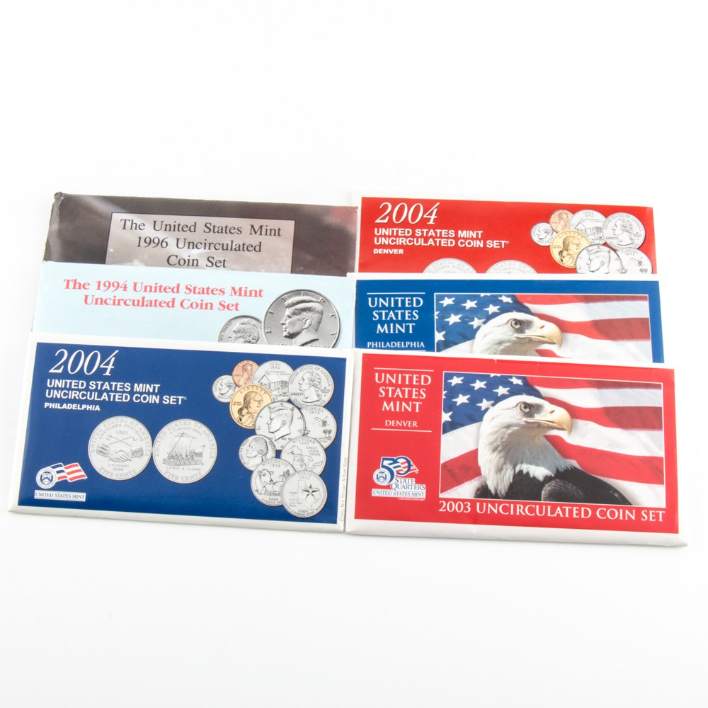 Group of U.S. Uncirculated Coin Sets
