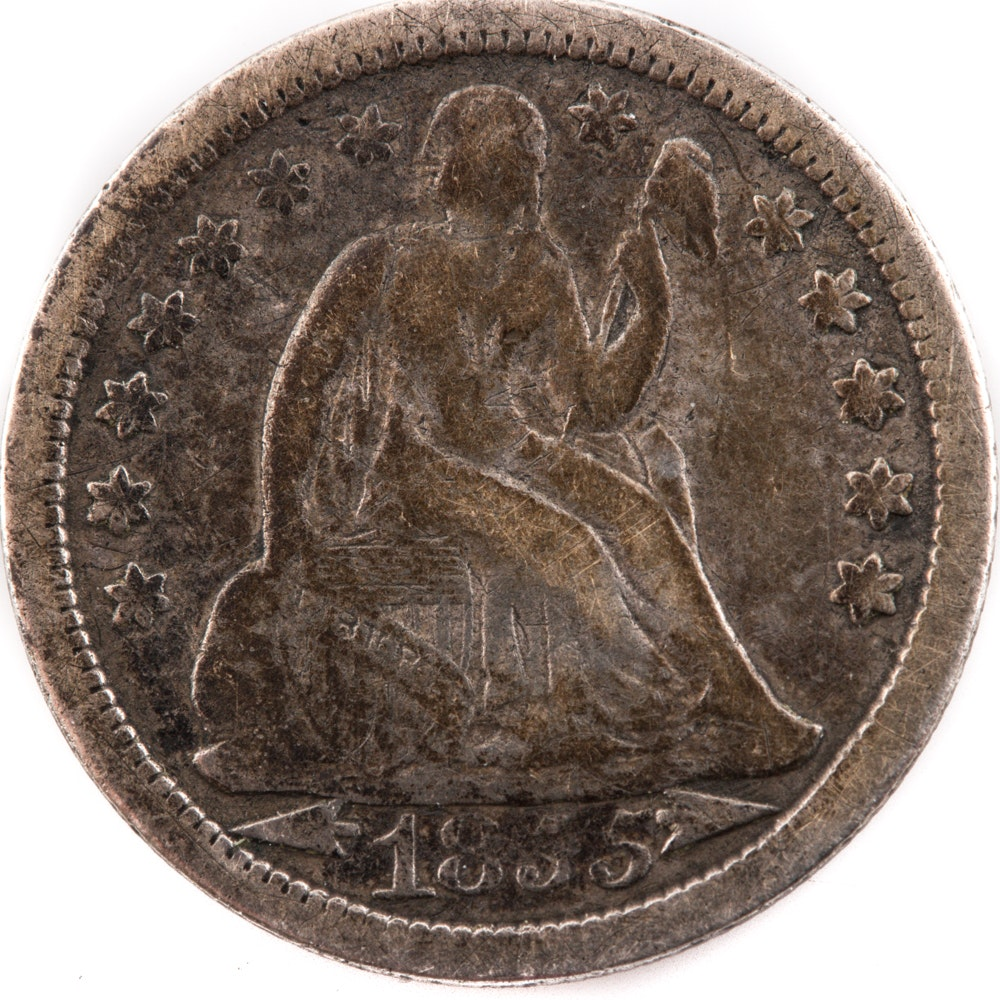 1855 (Arrows) Liberty Seated Dime