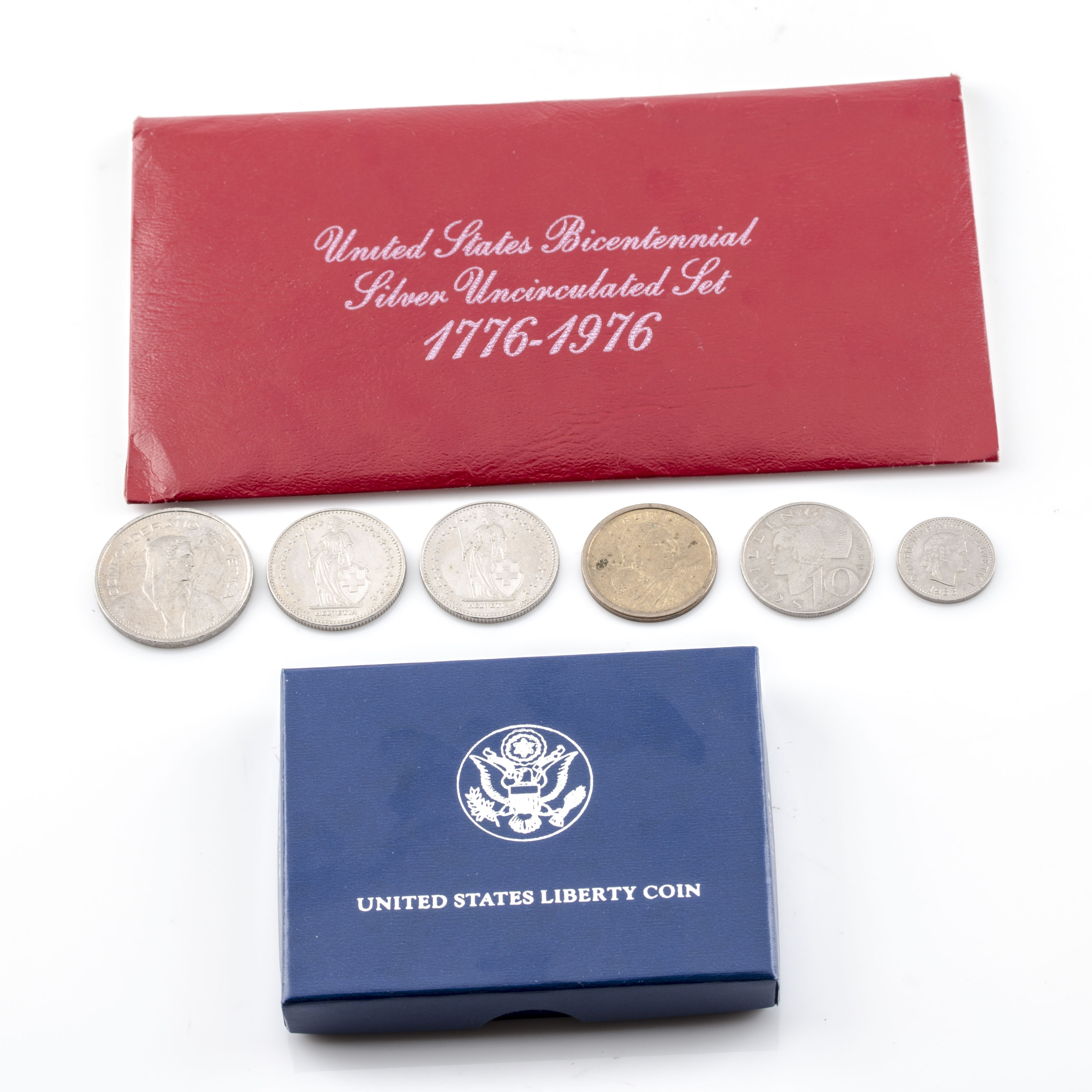 U.S. Commemorative Silver Coins and Foreign Coins