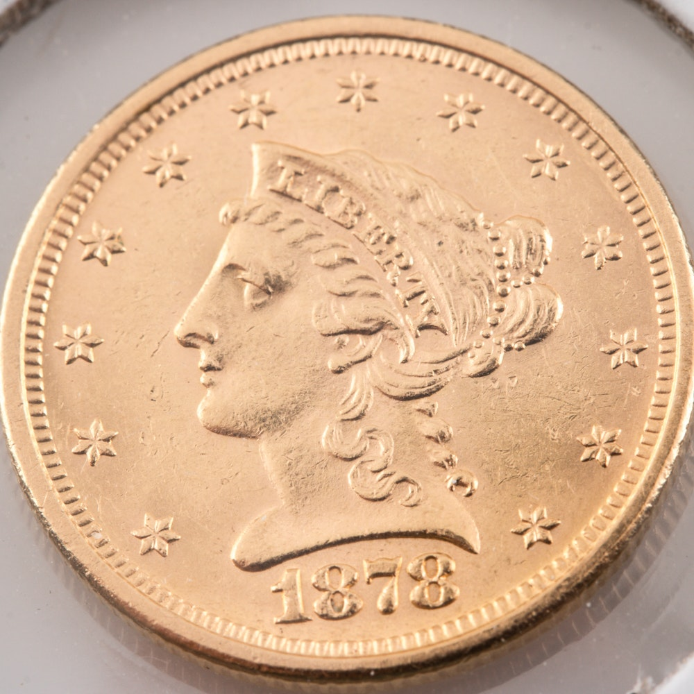 1878-S Liberty Head $2 1/2 Gold Coin