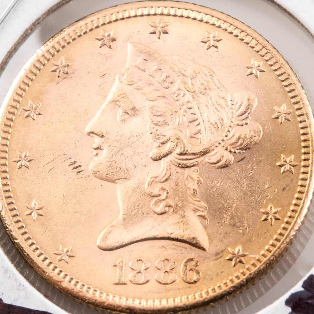 1886-S Liberty Head $10 Gold Coin
