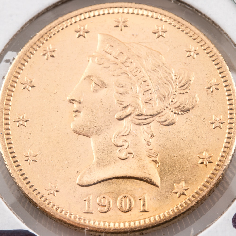 1901-S Liberty Head $10 Gold Coin