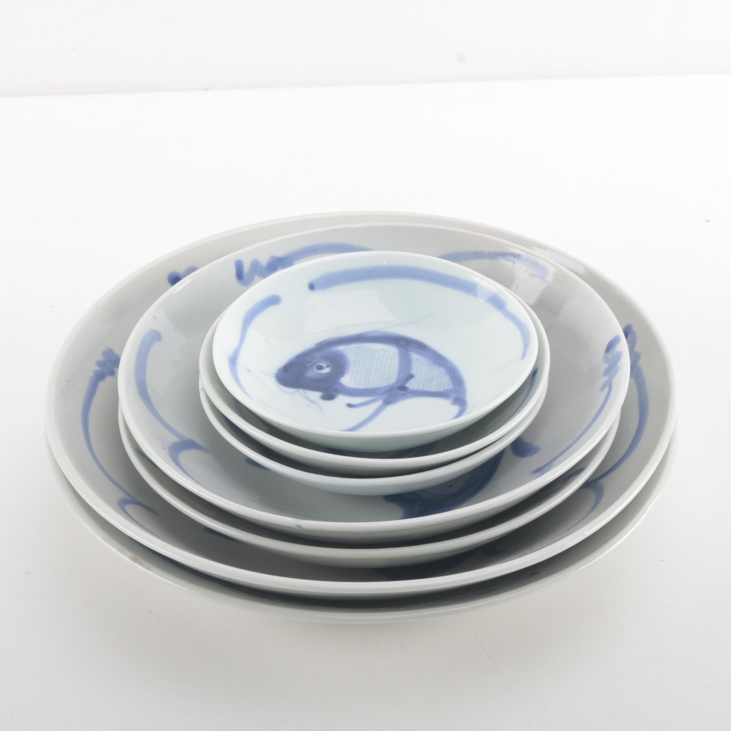 Blue and White Chinese Bowls
