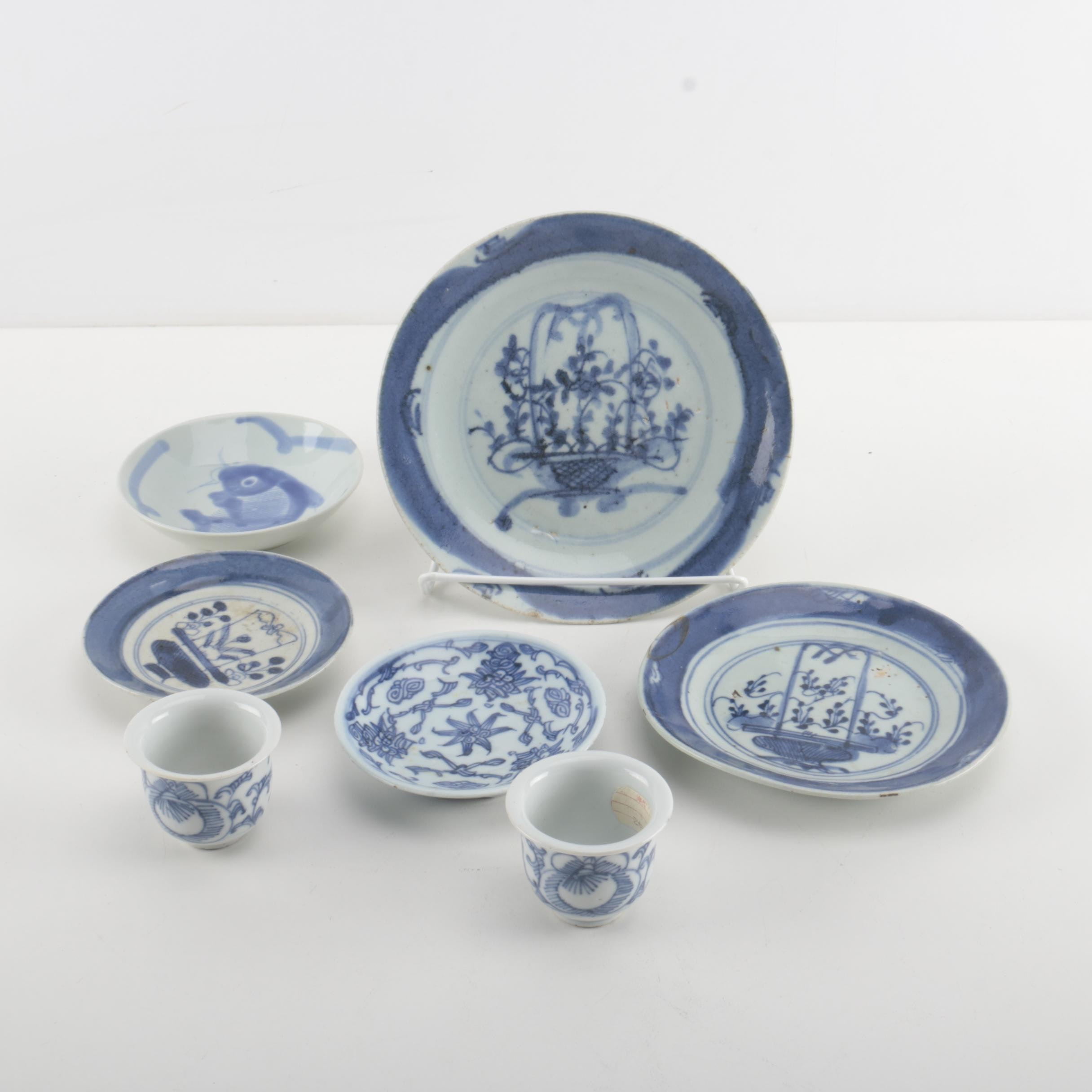 Vintage Chinese Porcelain With Jian Ding Seals