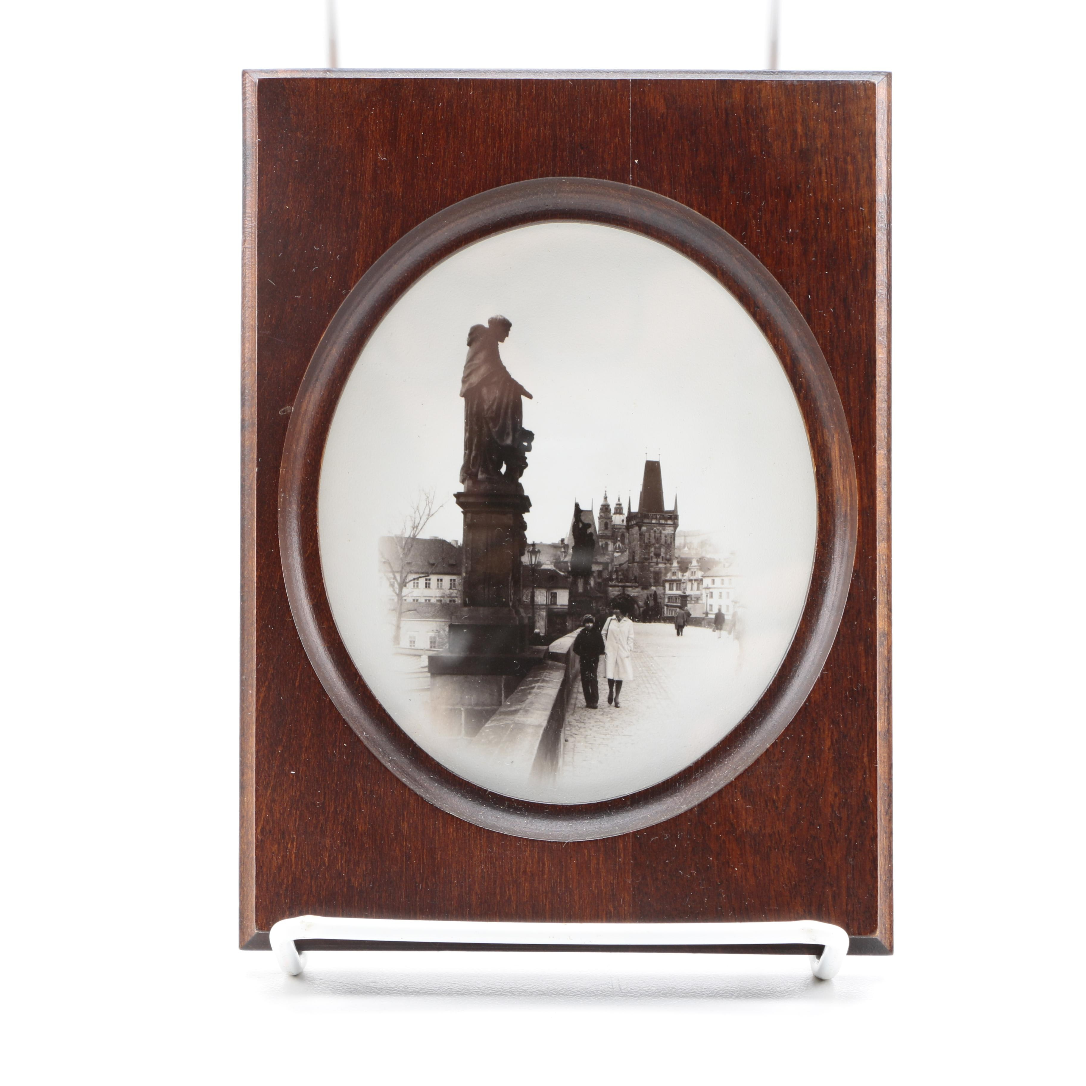 "Praha Karluv Photograph in Wood Frame ""Most"""