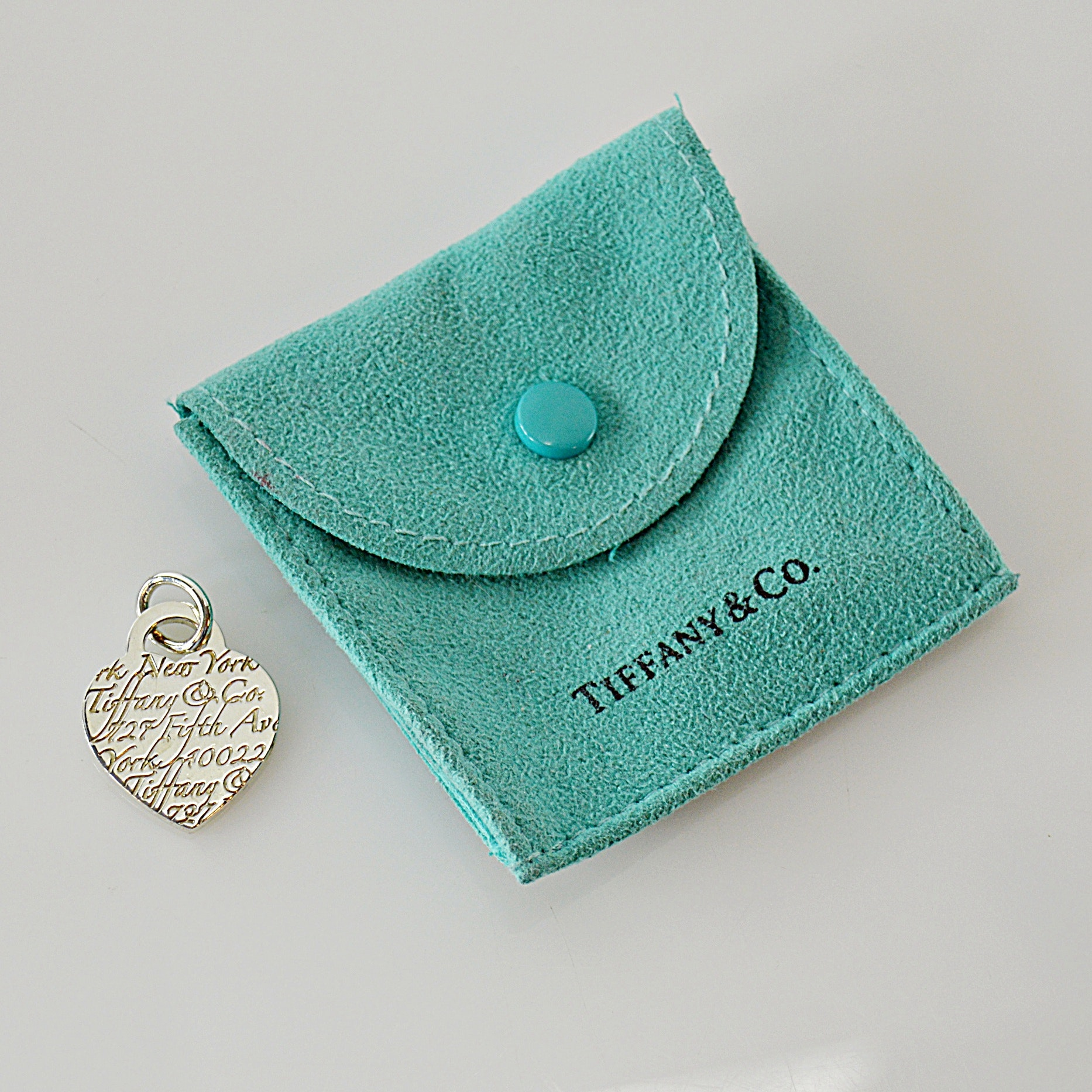 Tiffany & Co. 925 Sterling Silver Heart Pendant with Case