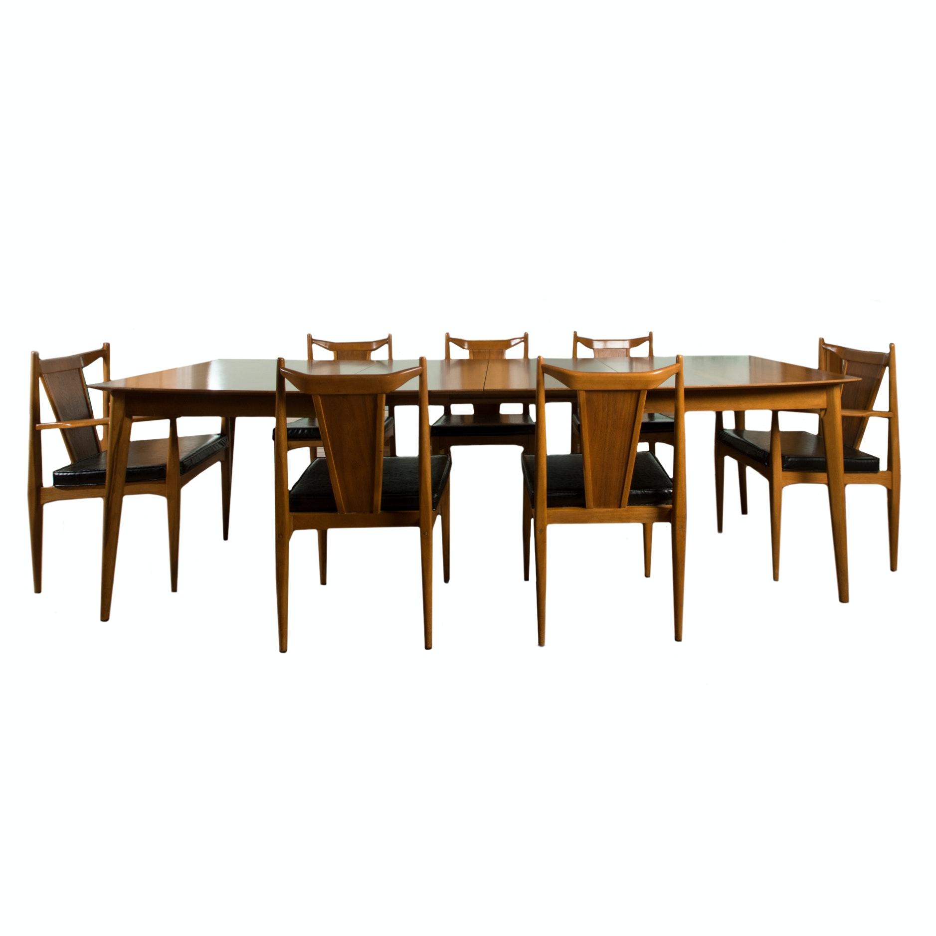 Danish Modern Dining Table with Unagusta Chairs