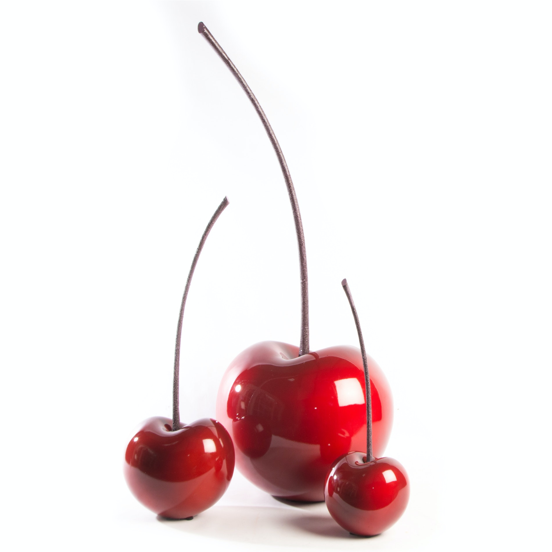 Pop-Art Style Oversized Cherry Decor by Hebi Arts