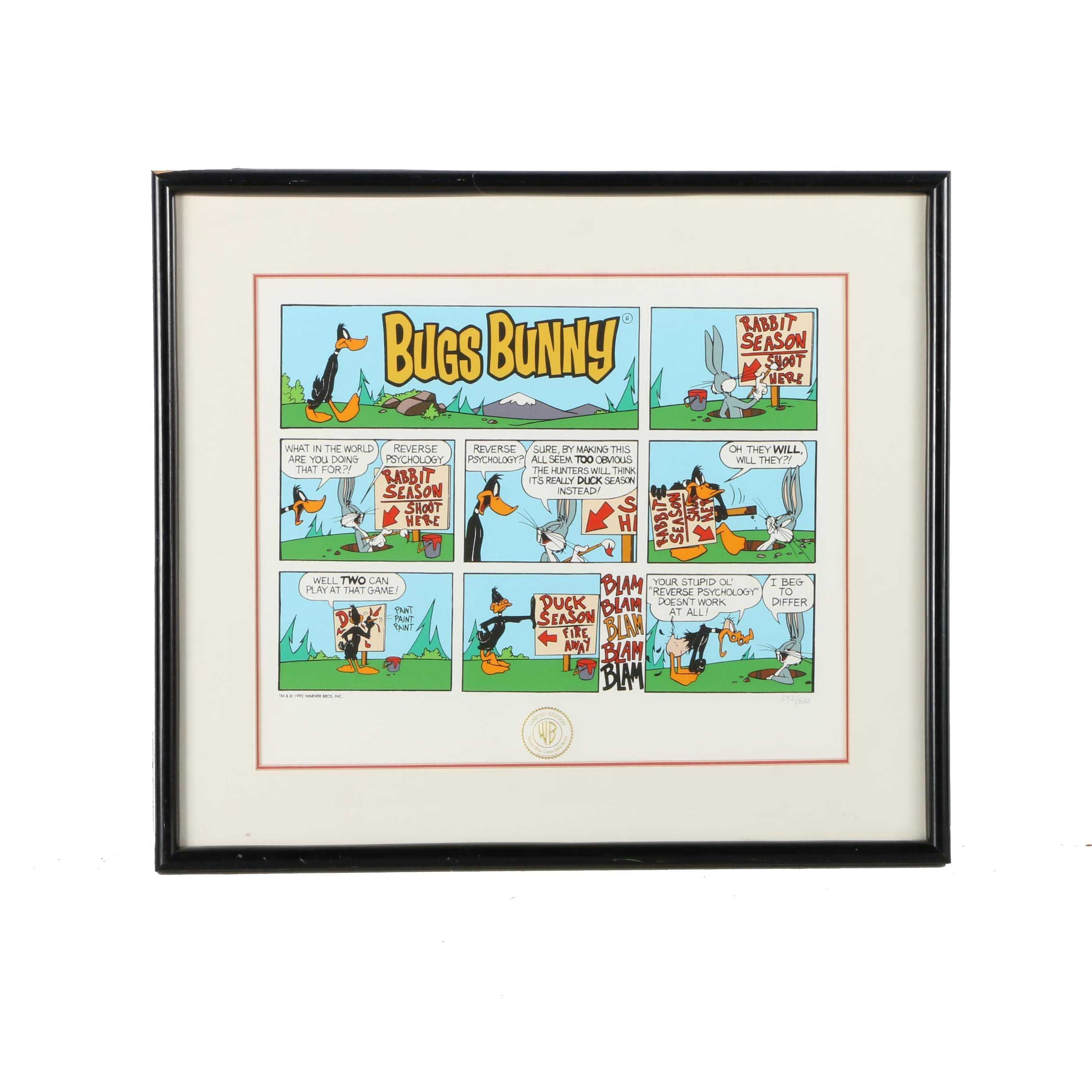 """Warner Bros. Limited Edition Serigraph on Paper """"Bugs Bunny"""""""