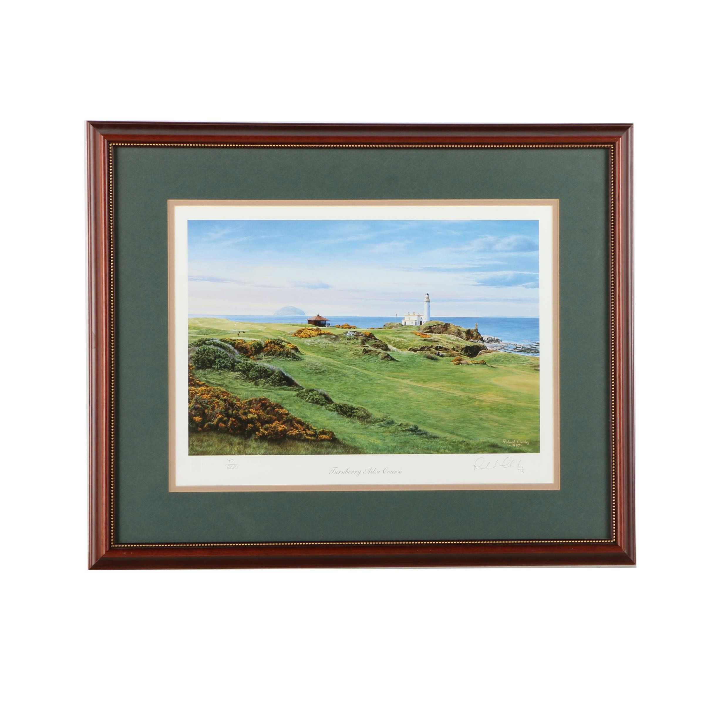 "Richard Charley Limited Edition Offset Lithograph ""Turnberry Aisla Course"""