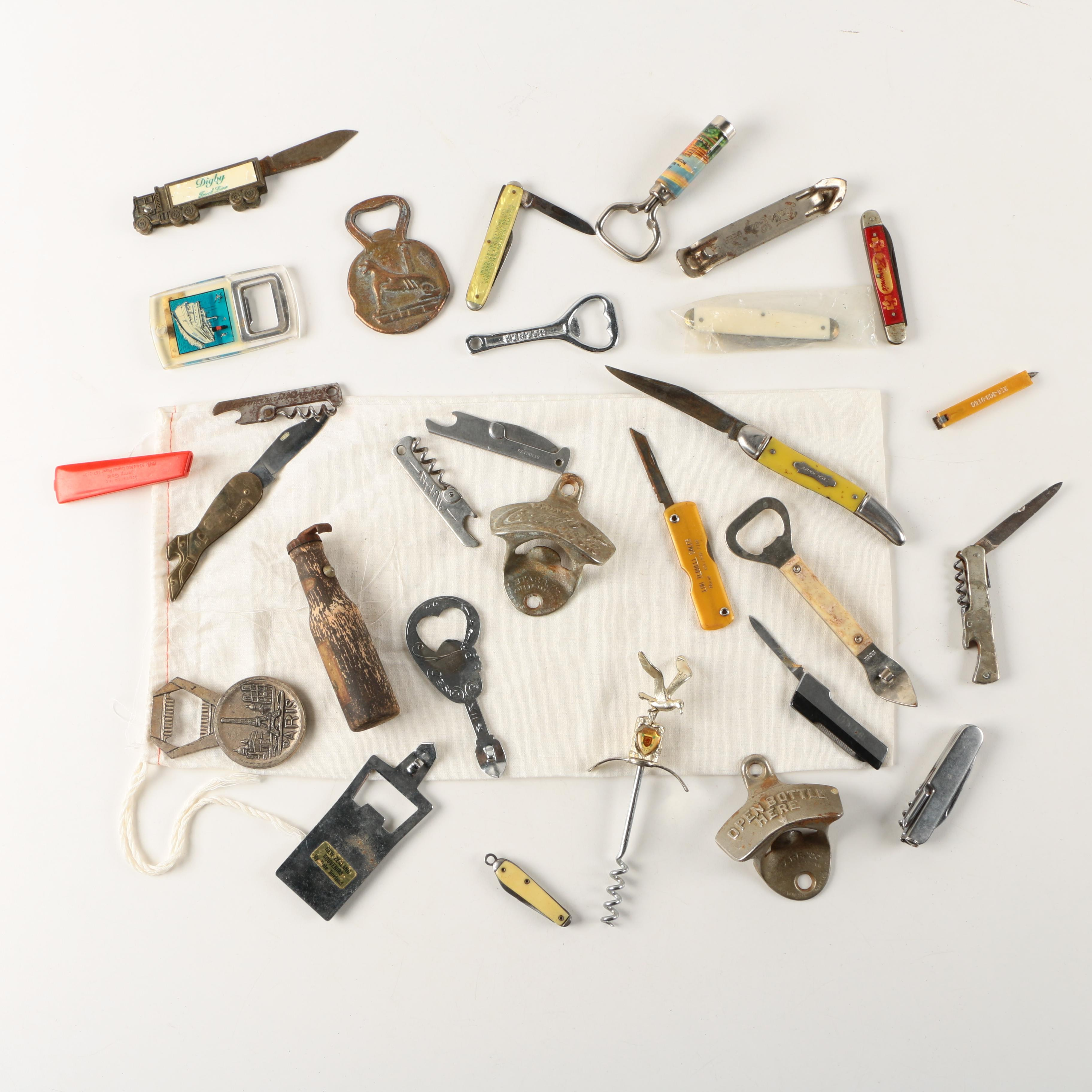 Bottle Openers and Pocket Knives