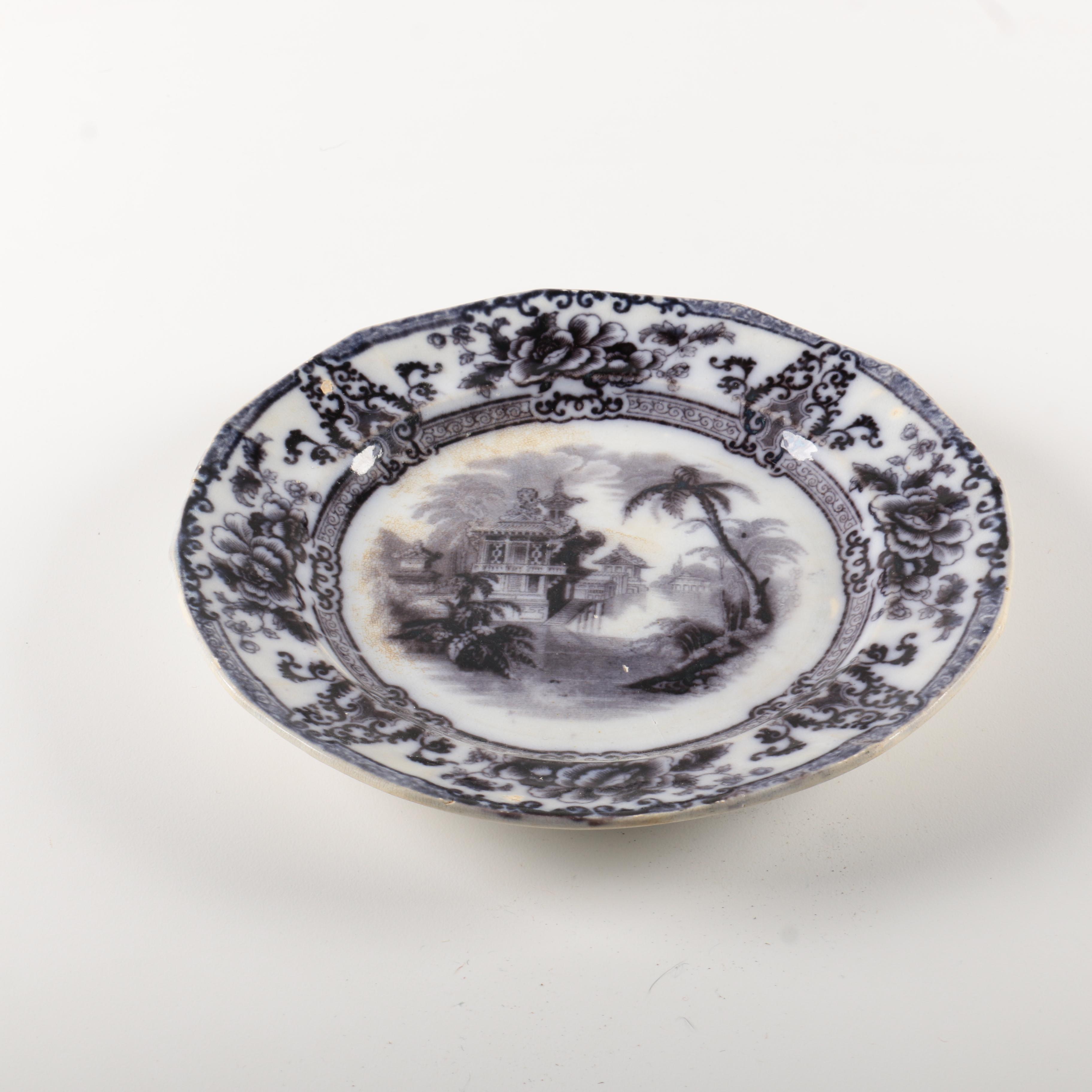 "Antique Davenport Ironstone ""Cyprus"" Plate"