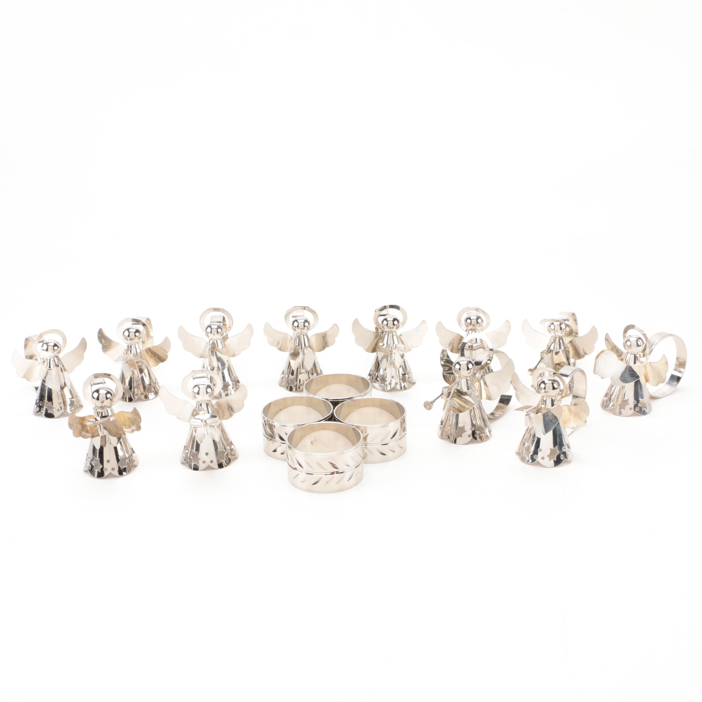 Assortment of Silver Tone Napkin Rings