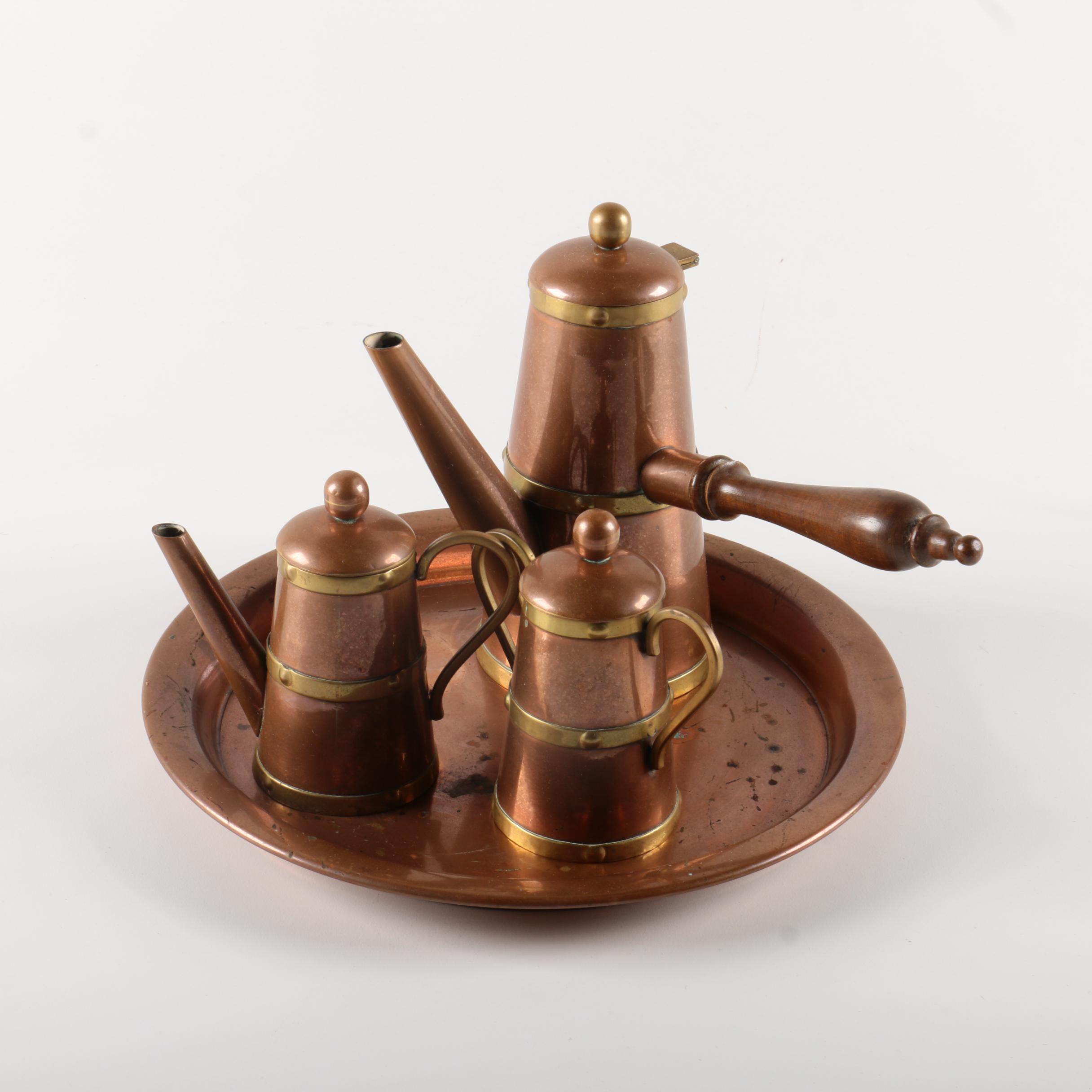 Copper Frame Coffee Set