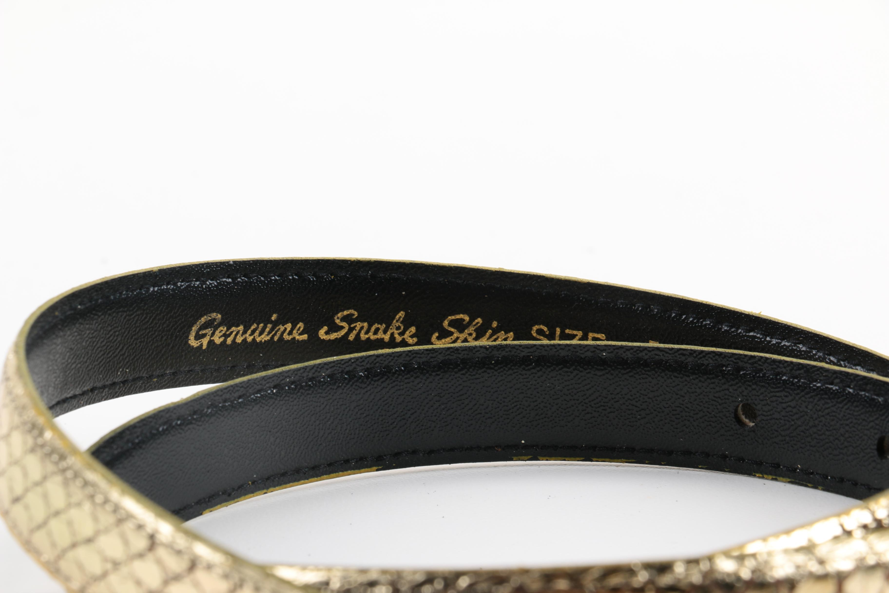 Assortment of Belts Including Snakeskin : EBTH