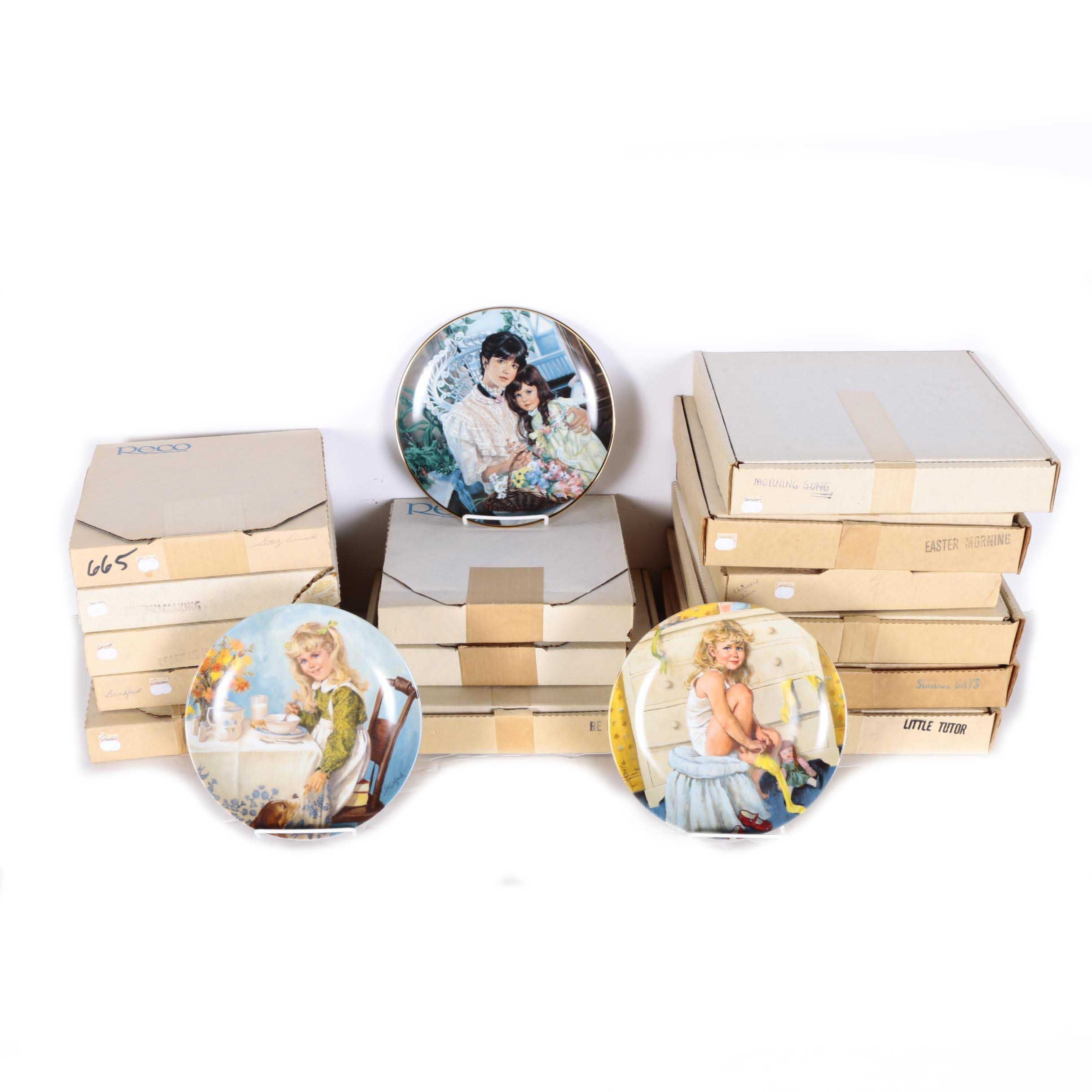 """Reco Collector's Plates Including """"Becky's Day"""" Collection"""
