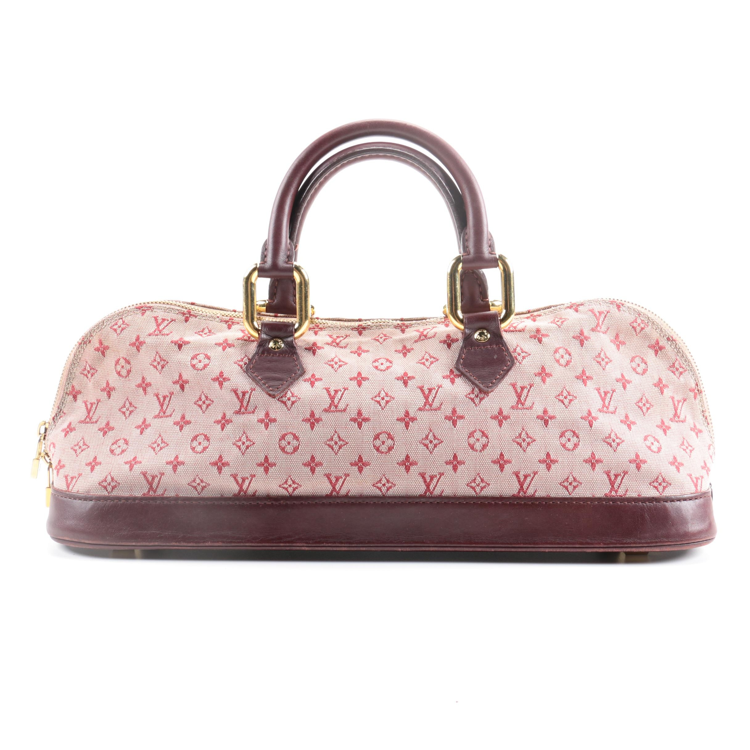 Louis Vuitton Mini Monogram Alma Long Cerise Cherry Handbag