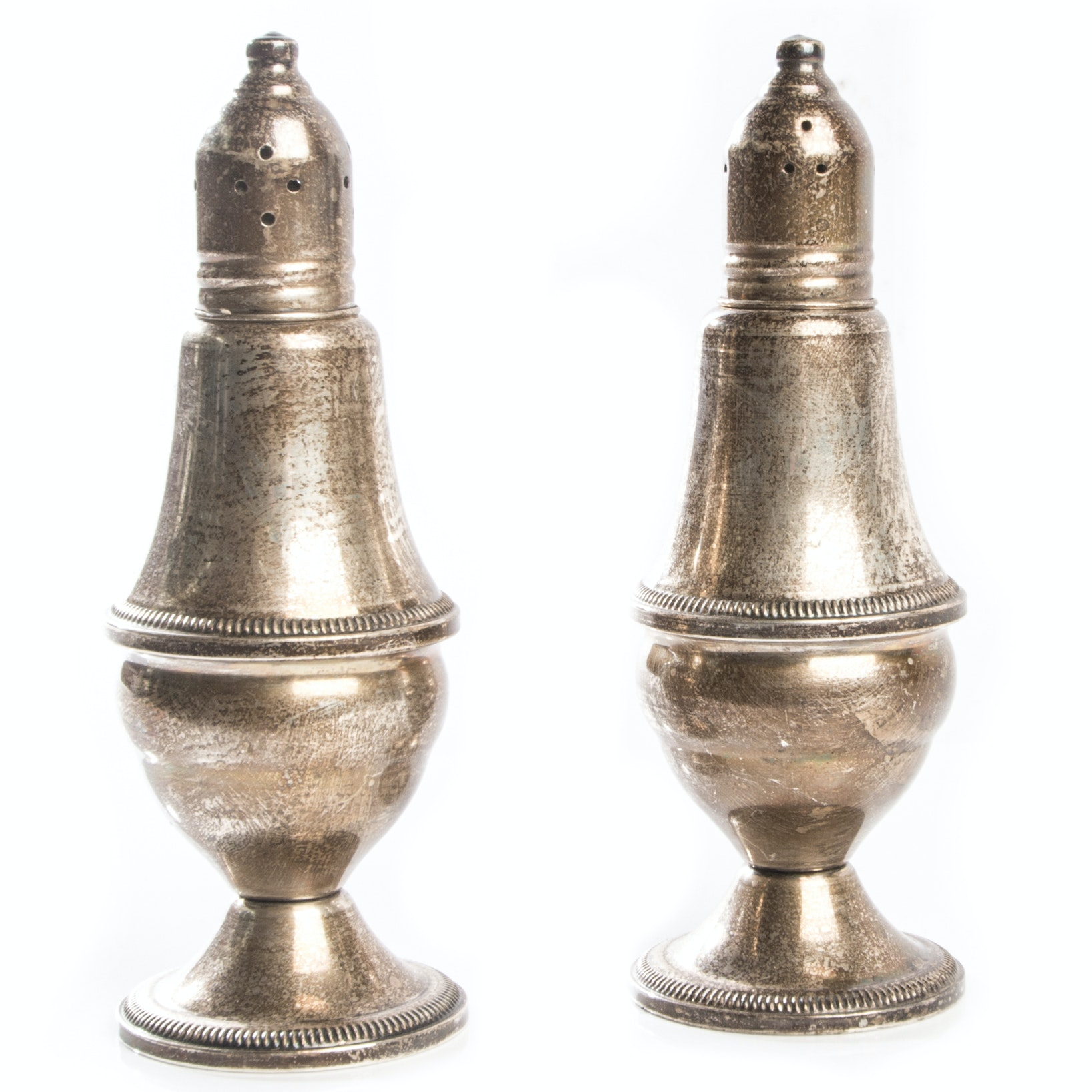 Vintage Weighted Sterling Silver Salt and Pepper Shakers by Duchin Creation