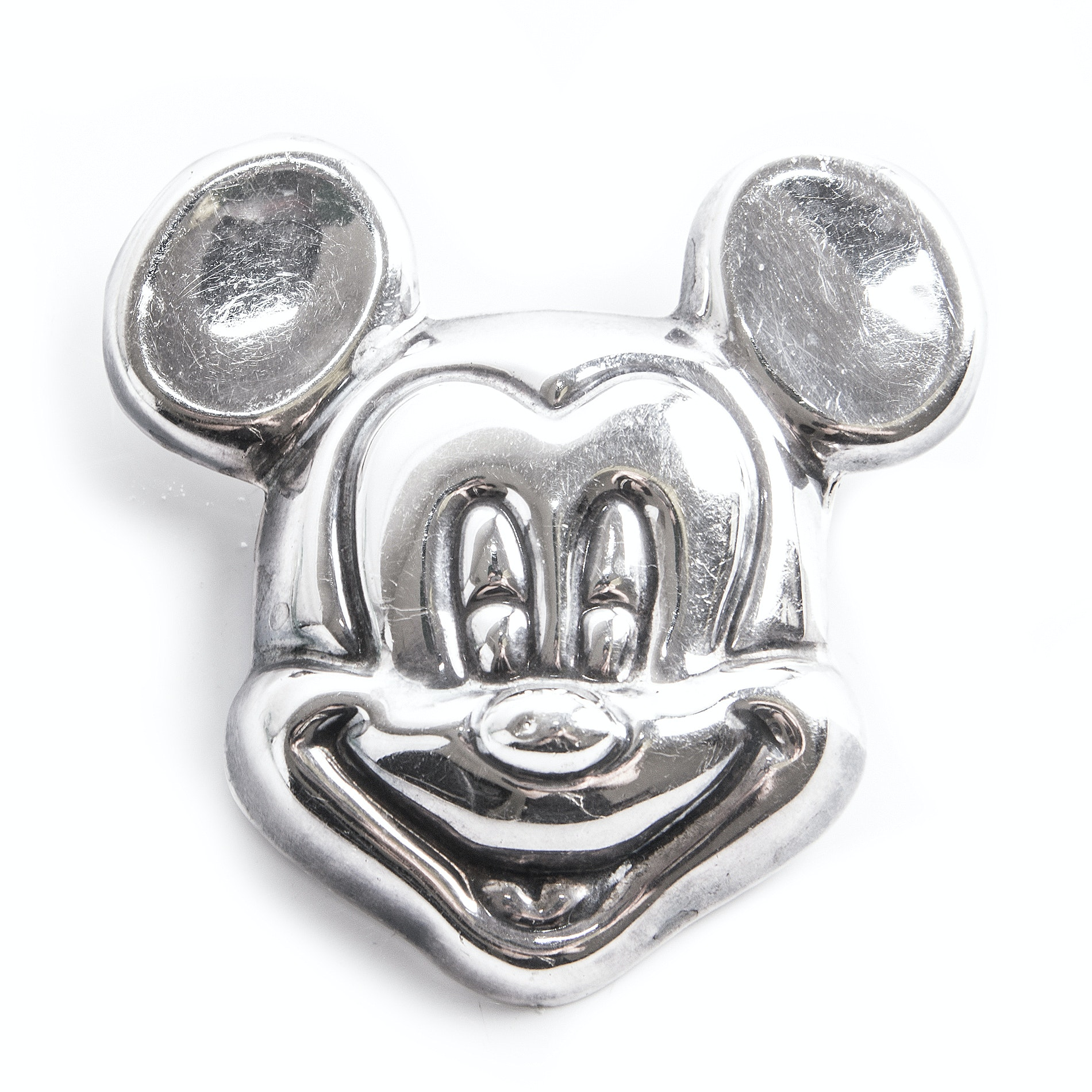 Sterling Silver Mickey Mouse Brooch