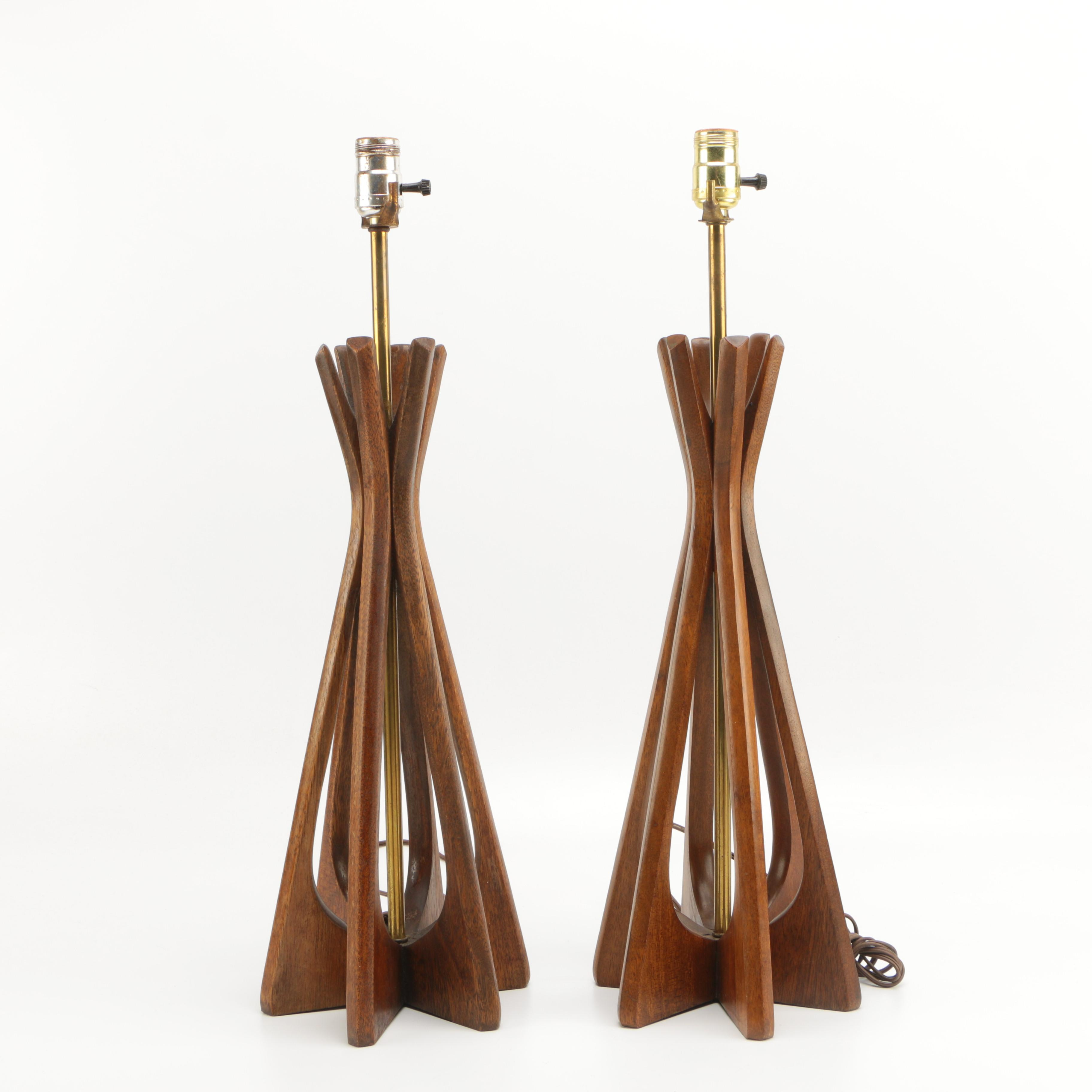 Mid Century Modern Wood Table Lamps