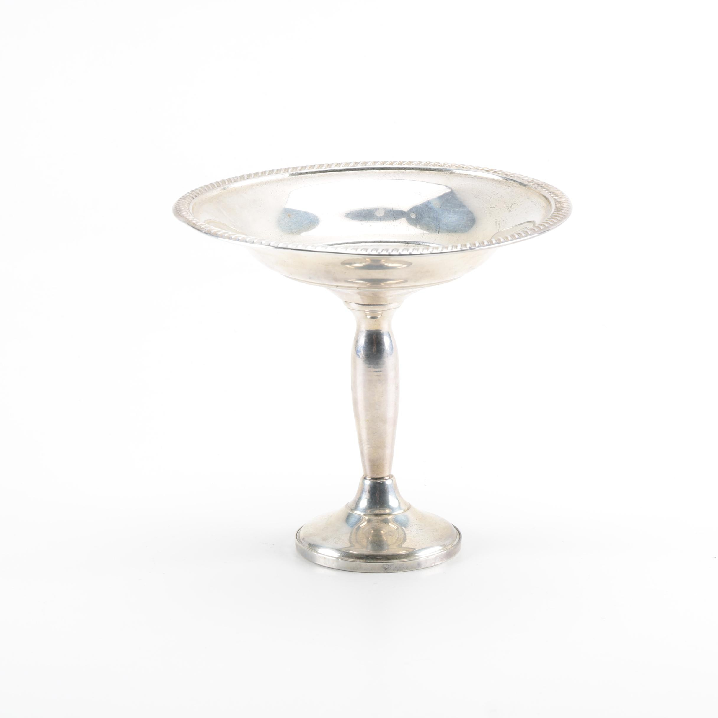 Fisher Silversmiths Weighted Sterling Silver Compote