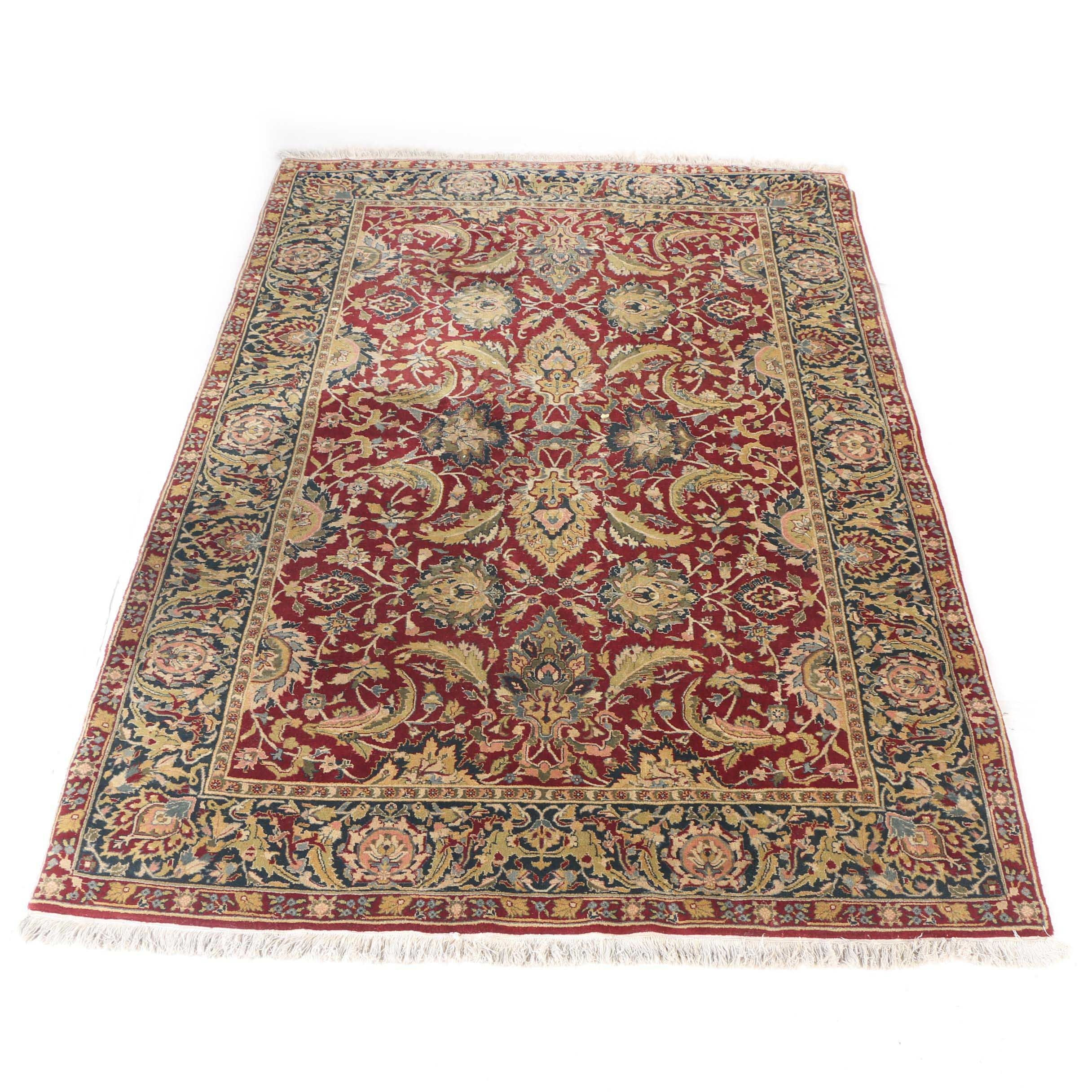 Hand-Knotted Kaleen Indo-Persian Area Rug