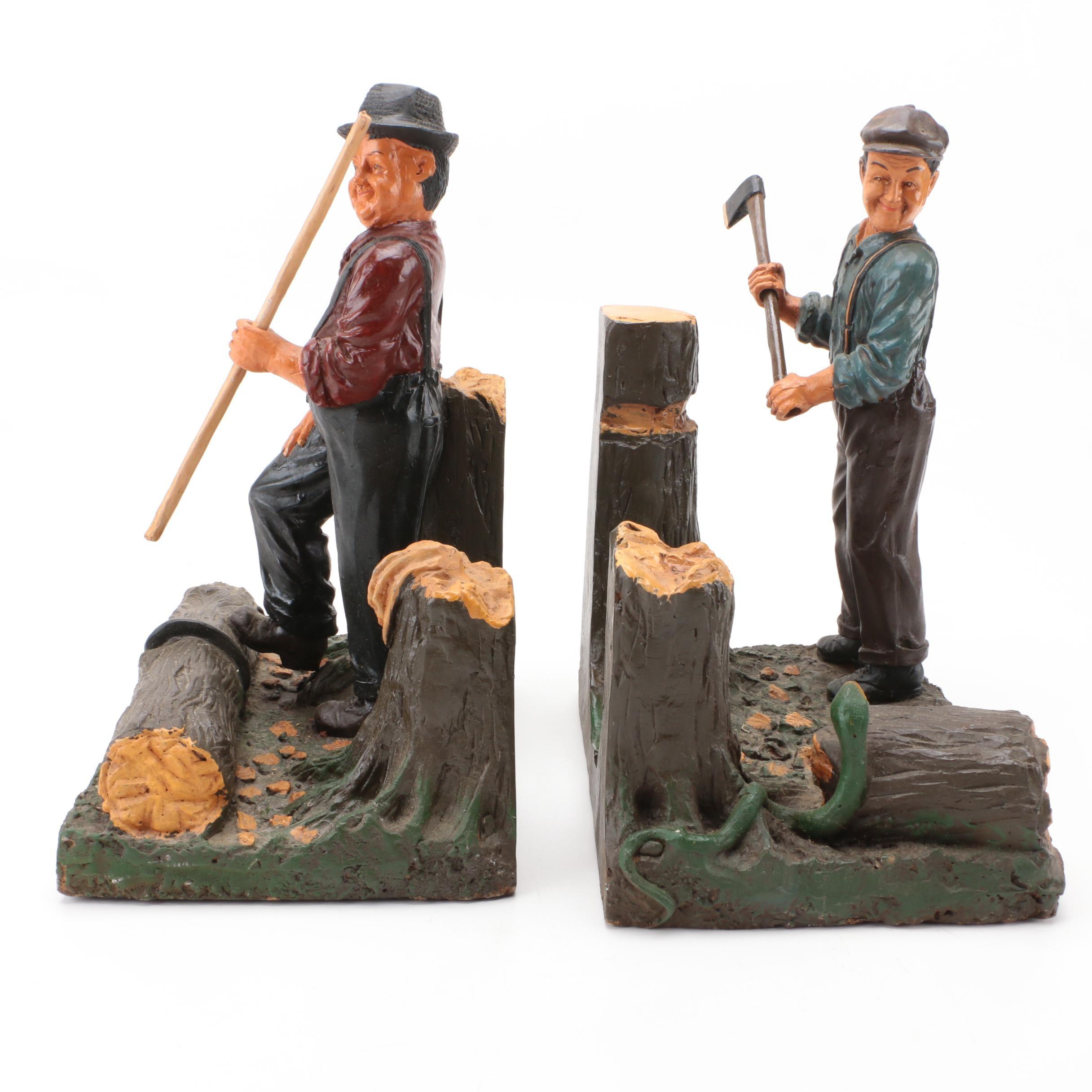 Lumberjack Bookends Set