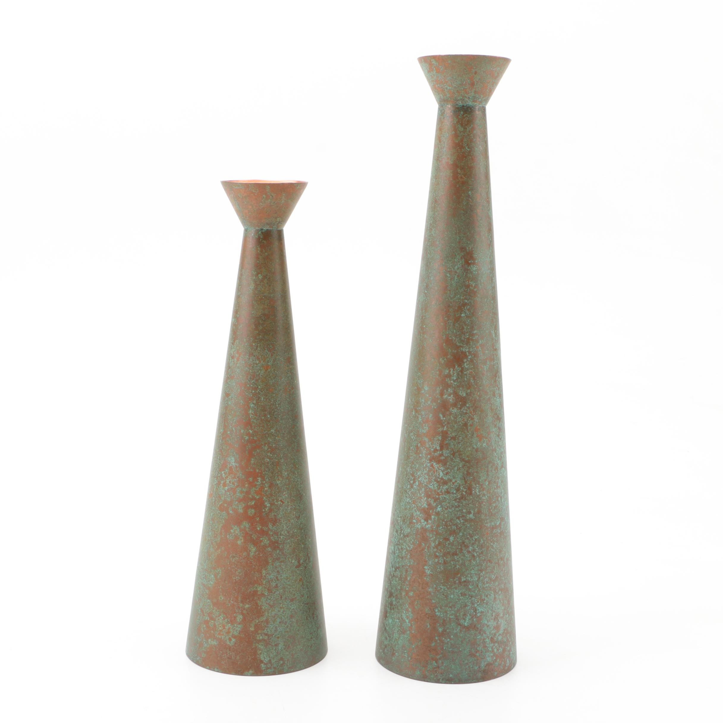 Oxidized Copper Vessels