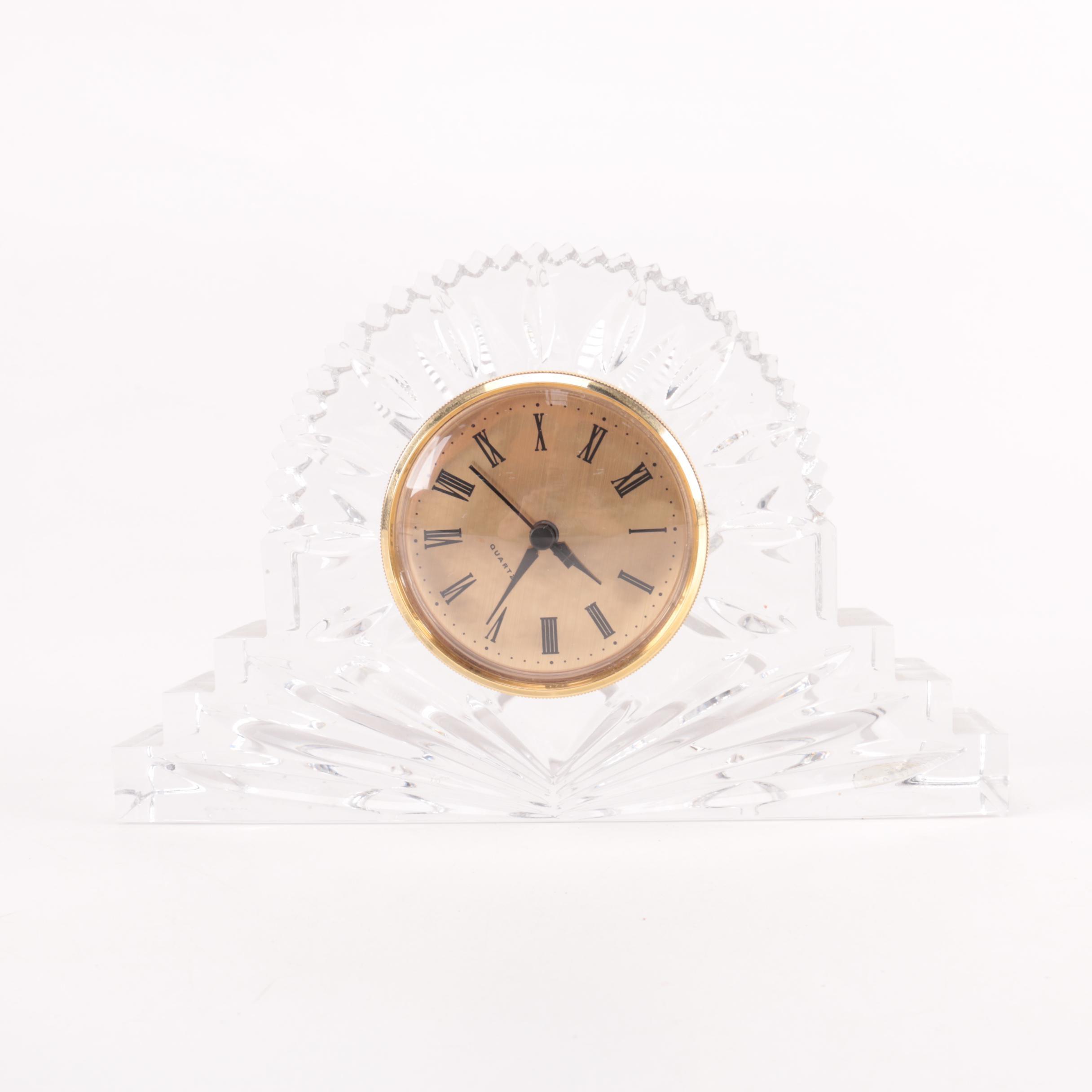 Czech Republic Crystal Tabletop Clock