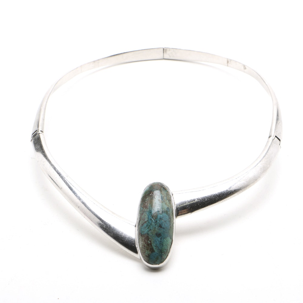 Sigi Pineda (Taxco b. 1929) Sterling Silver Collar Necklace